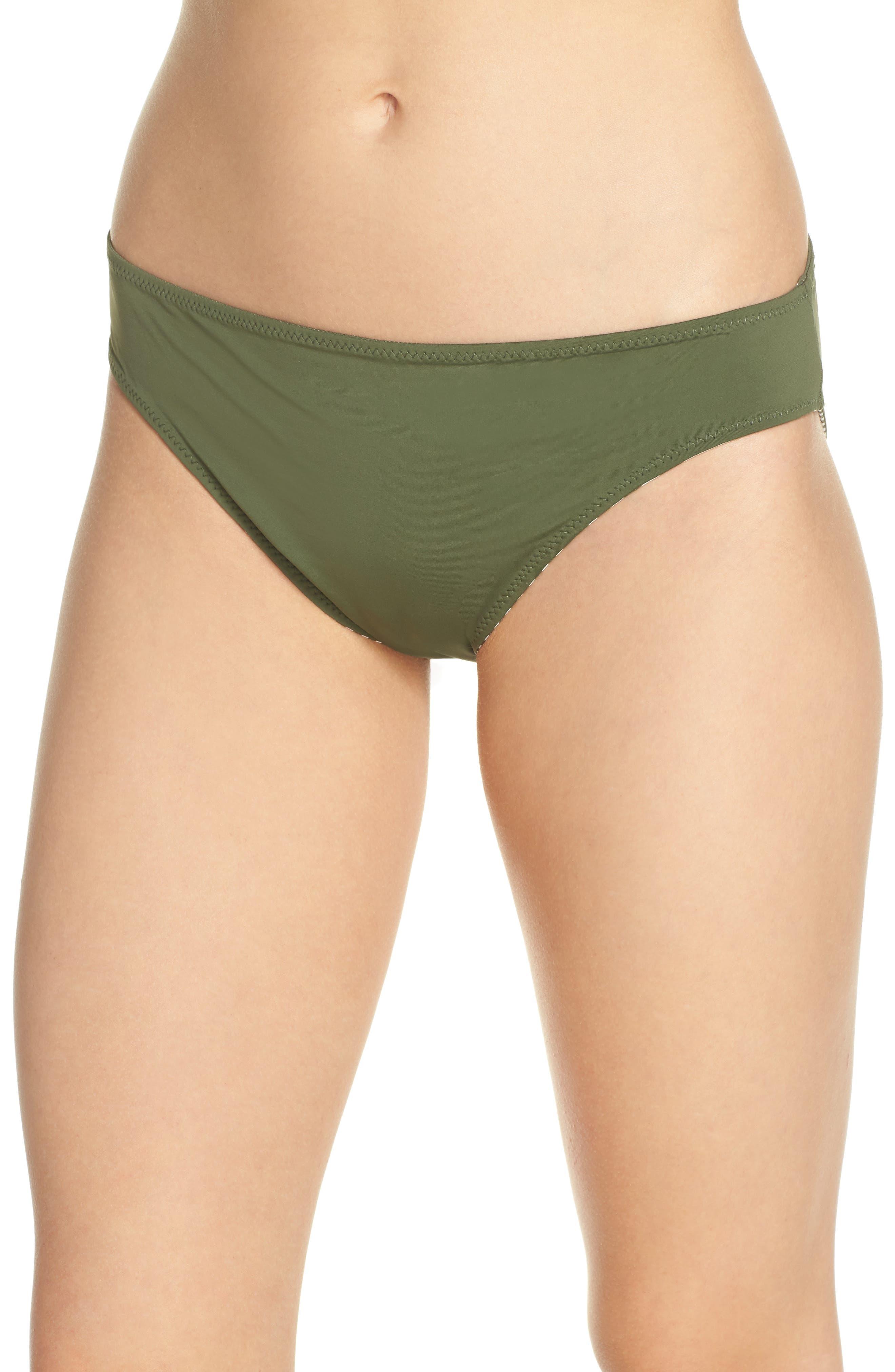 Reversible Hipster Bikini Bottoms,                             Alternate thumbnail 2, color,                             DARK TEA LEAF