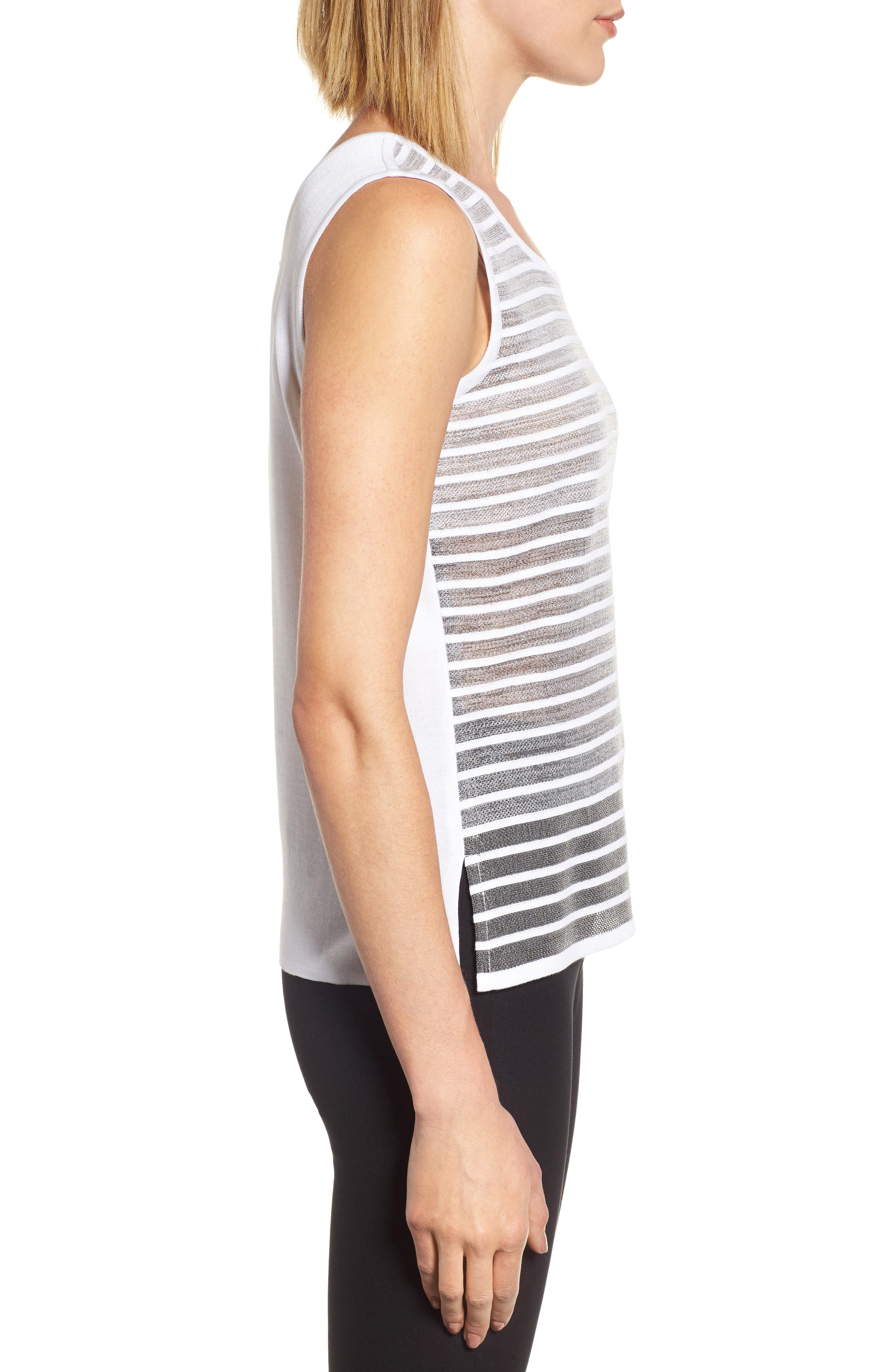 Reversible Knit Tank,                             Alternate thumbnail 3, color,                             102