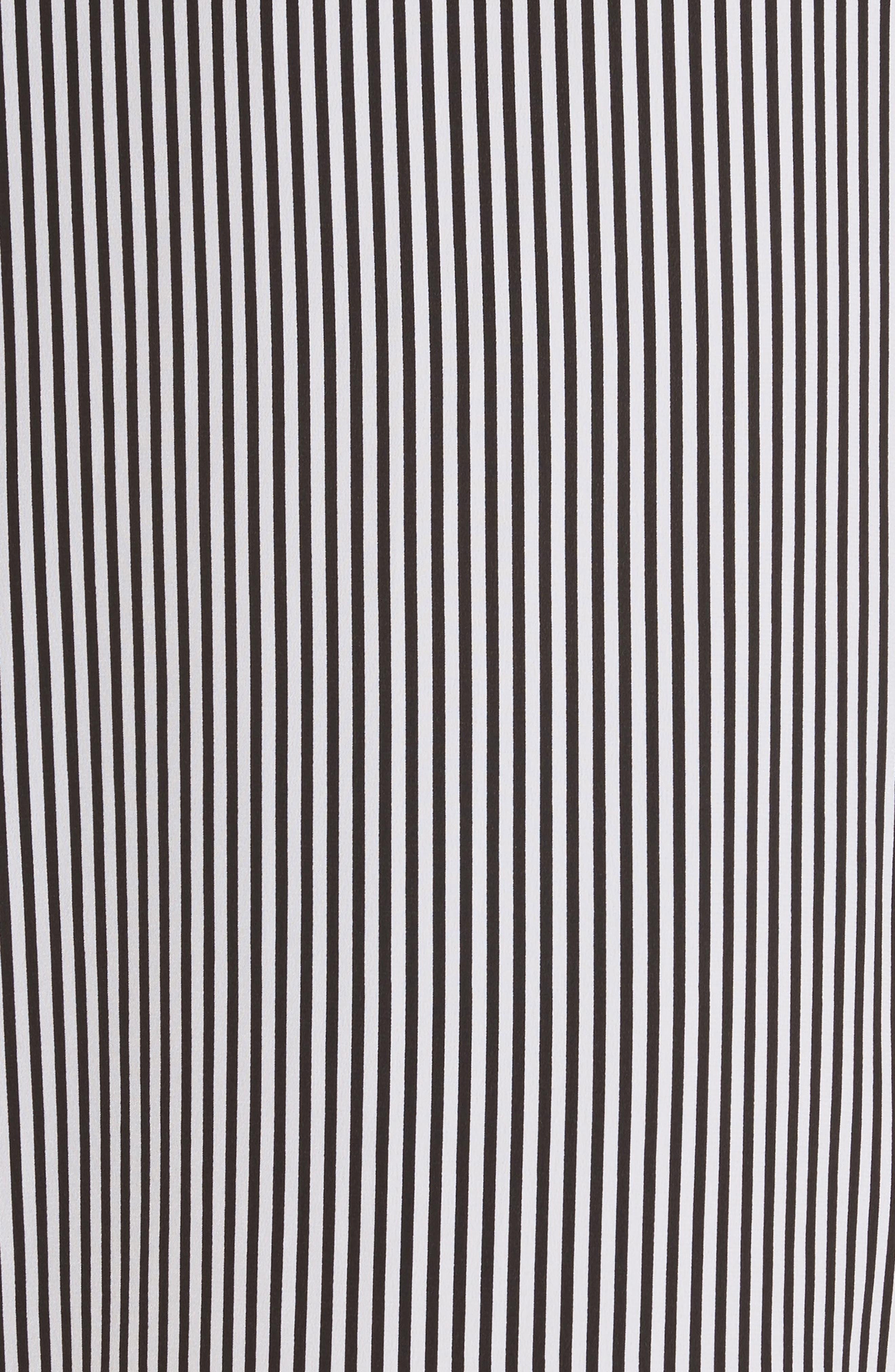 Brett Stripe Silk Shirtdress,                             Alternate thumbnail 5, color,                             002