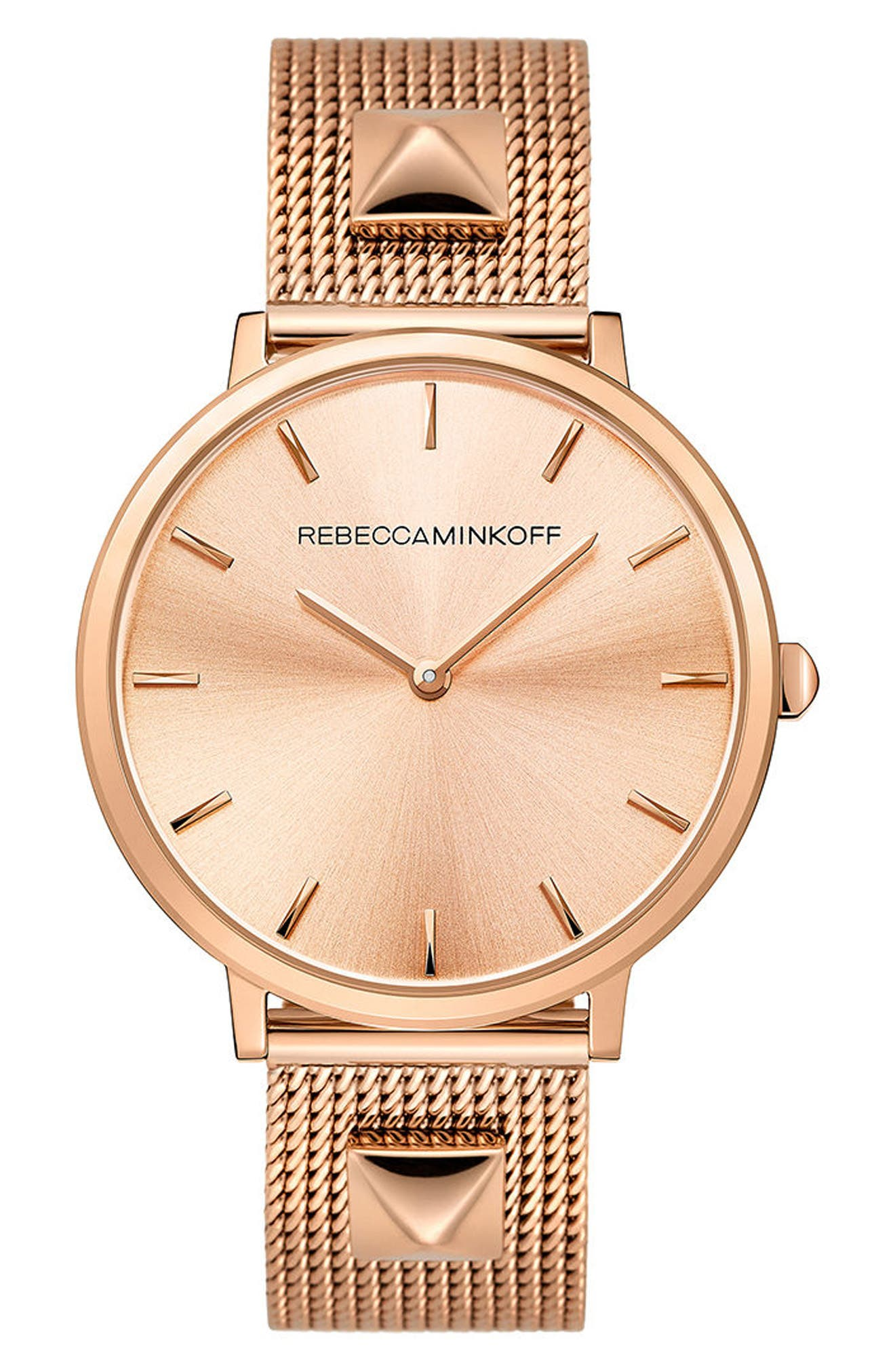 Major Mesh Strap Watch, 35mm,                         Main,                         color, ROSE GOLD