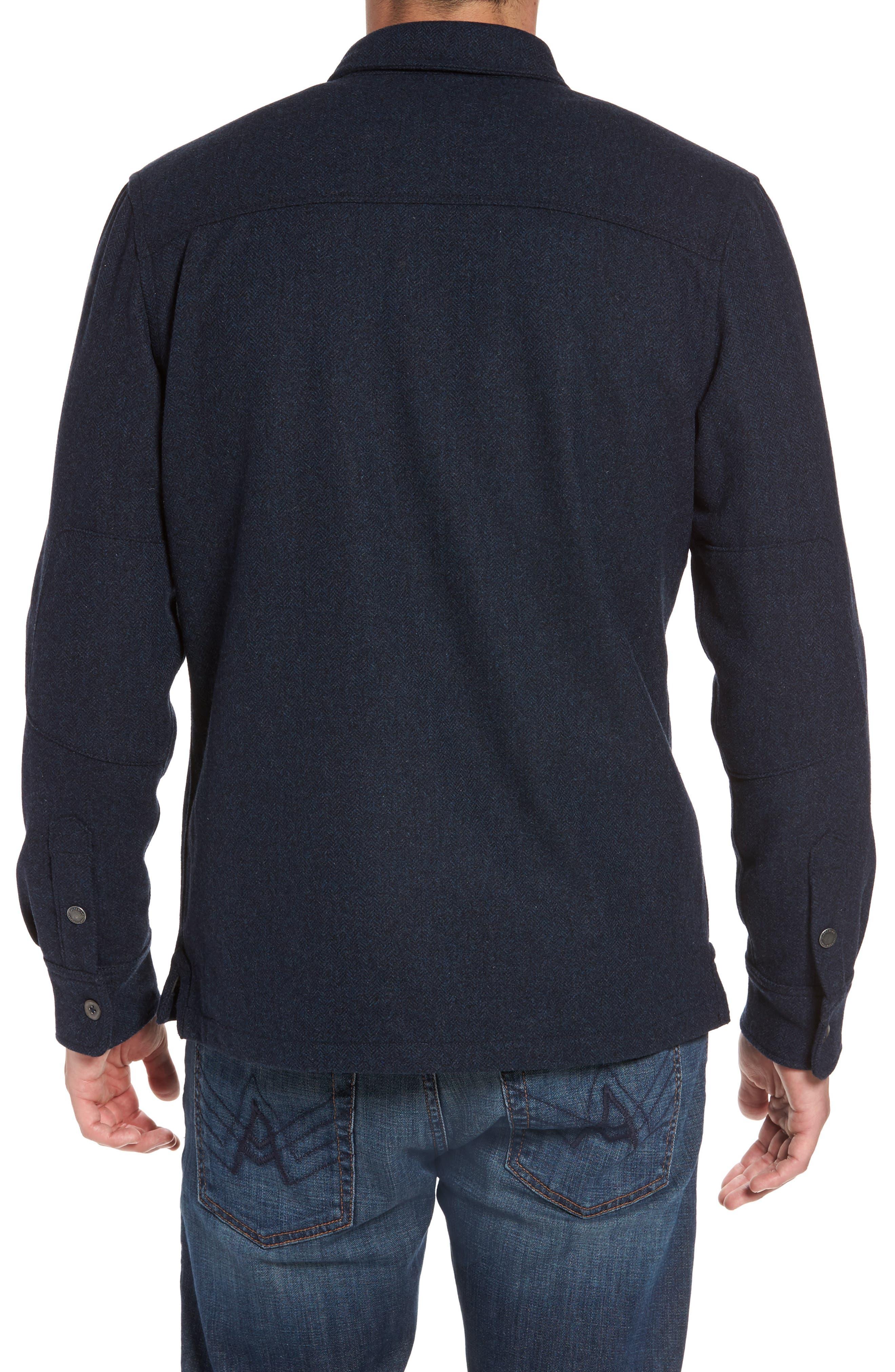 Creek Herringbone Wool Shirt Jacket,                             Alternate thumbnail 2, color,