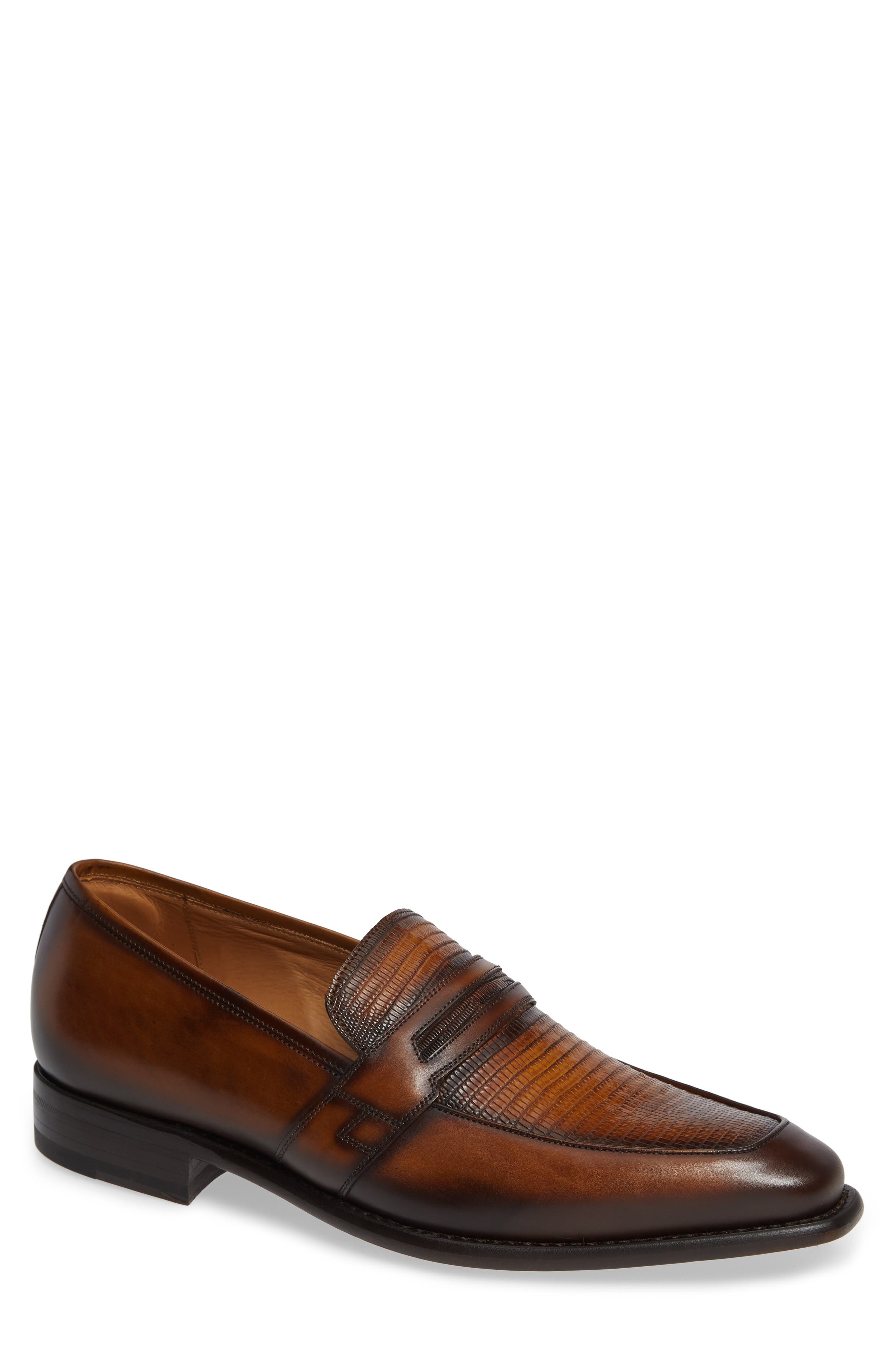 Hess Penny Loafer,                         Main,                         color, HONEY LEATHER