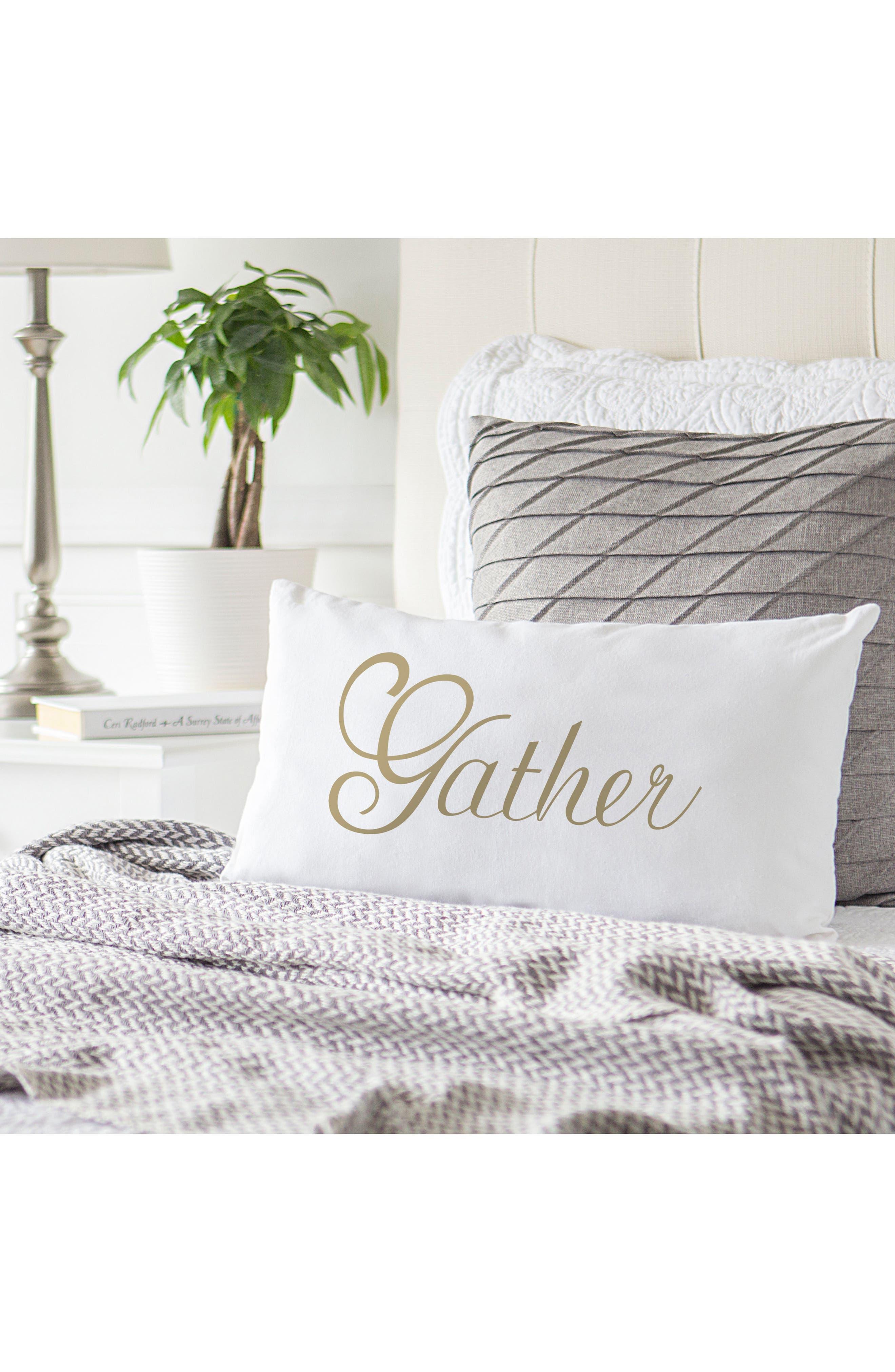 Gather Lumbar Accent Pillow,                             Alternate thumbnail 4, color,                             710
