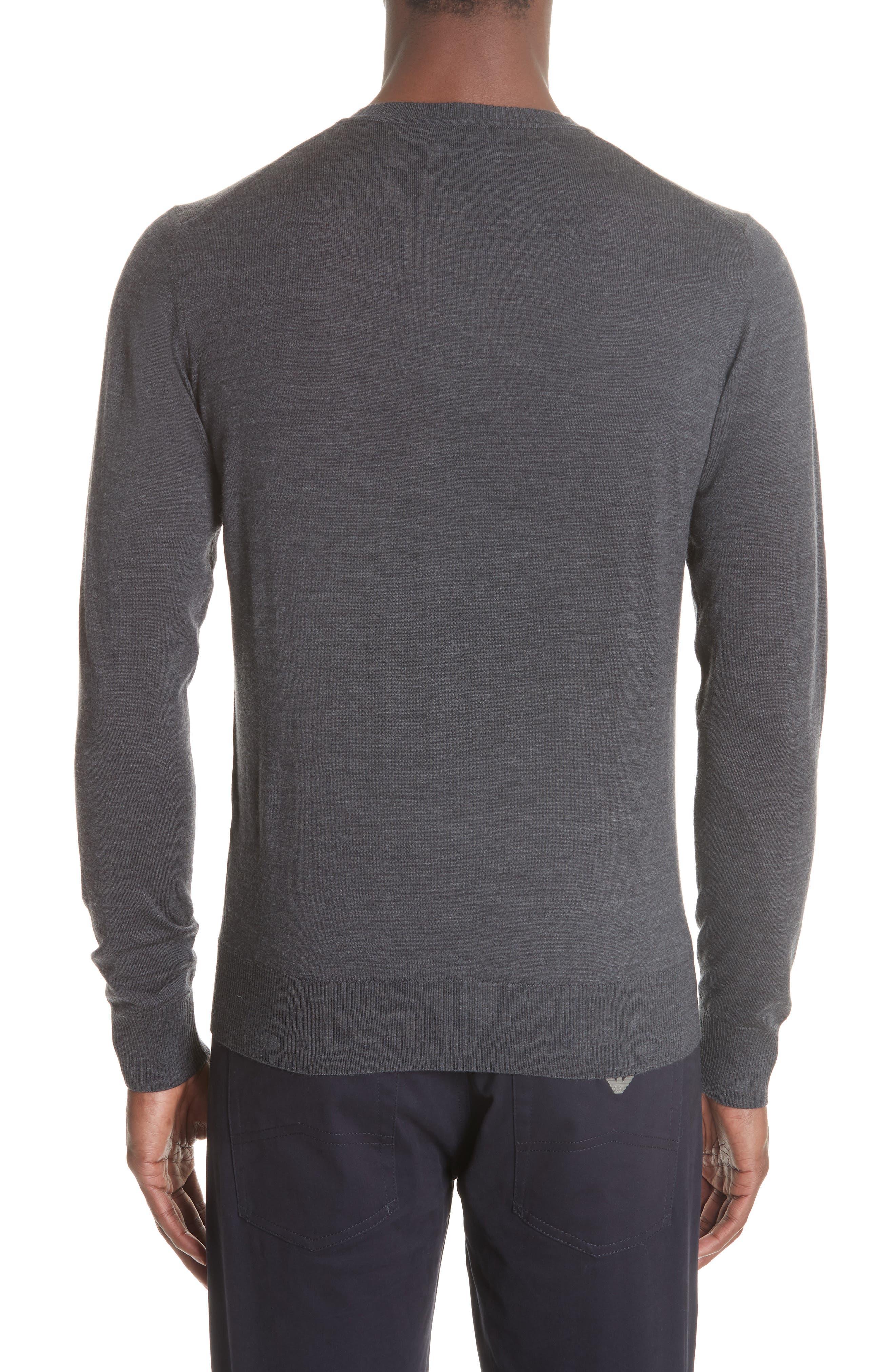 V-Neck Wool Sweater,                             Alternate thumbnail 2, color,                             GREY