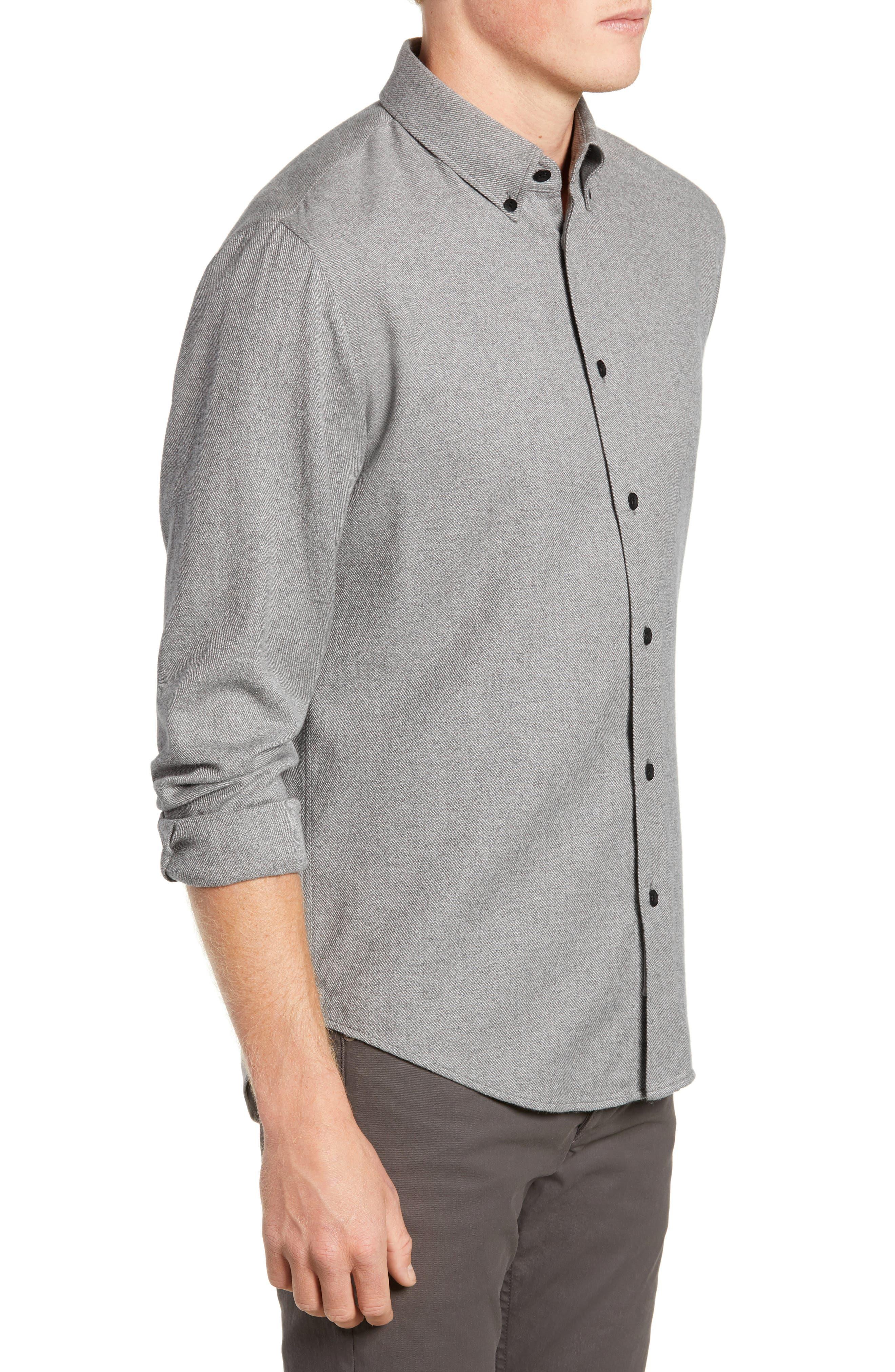 Fit 2 Tomlin Twill Sport Shirt,                             Alternate thumbnail 4, color,                             GREY