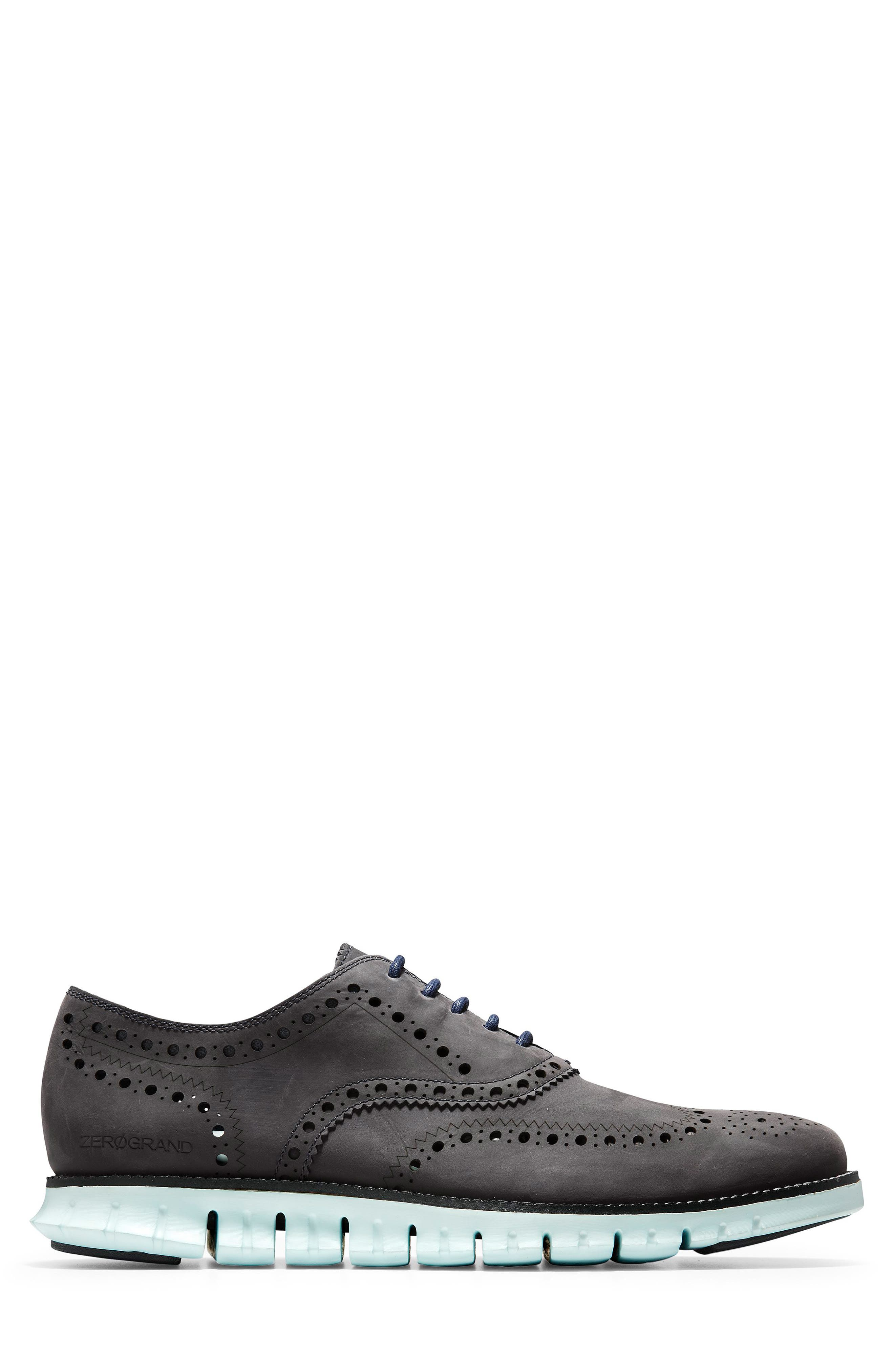 'ZeroGrand' Wingtip Oxford,                             Alternate thumbnail 3, color,                             PEACOAT/ MIST