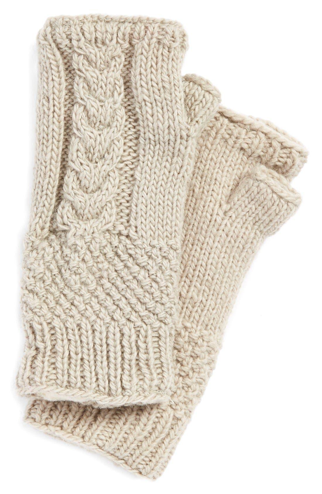 NirvannaDesigns Cable Knit Hand Warmers,                             Main thumbnail 5, color,