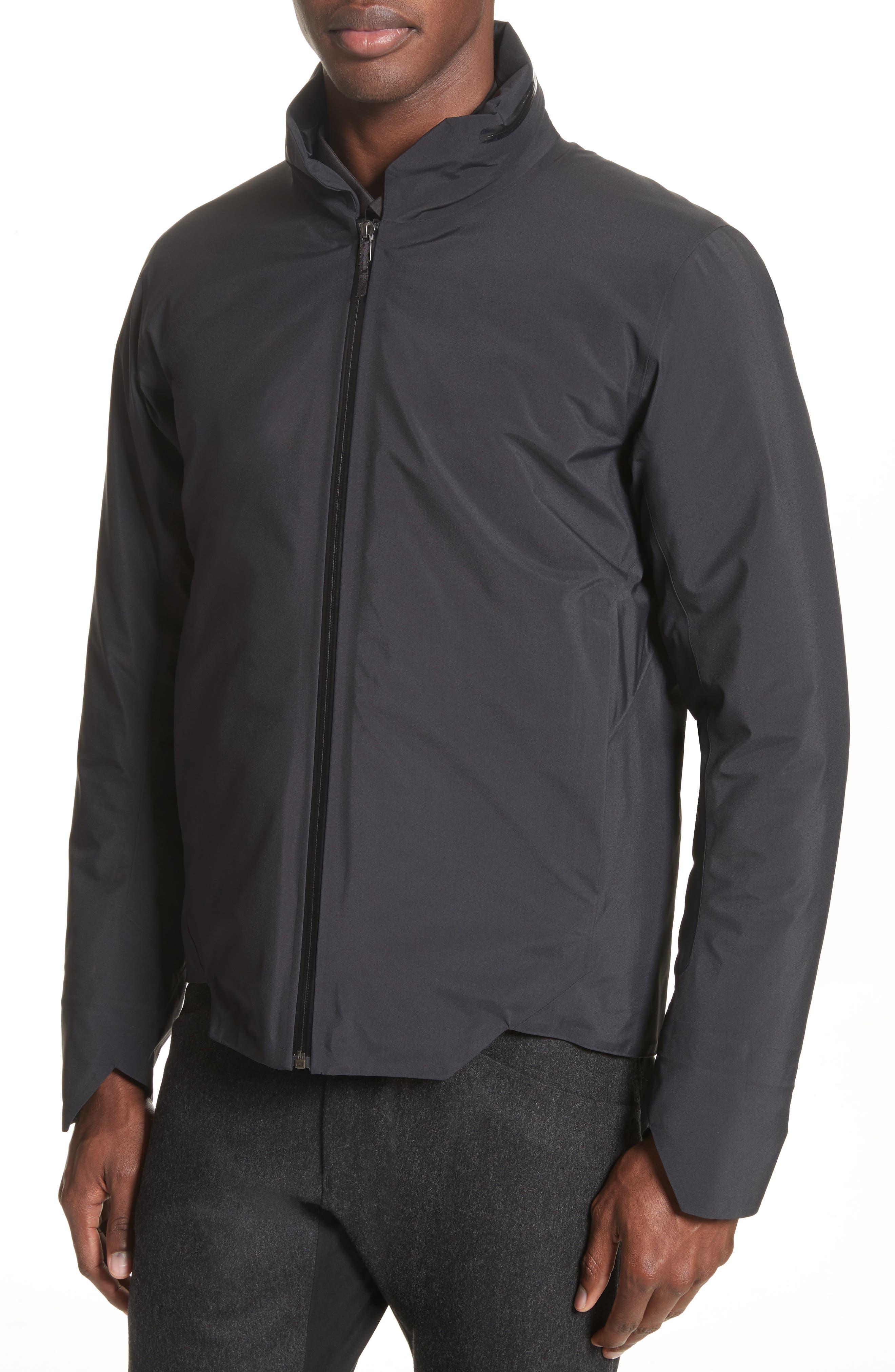 Achrom Waterproof Jacket,                             Alternate thumbnail 4, color,                             001