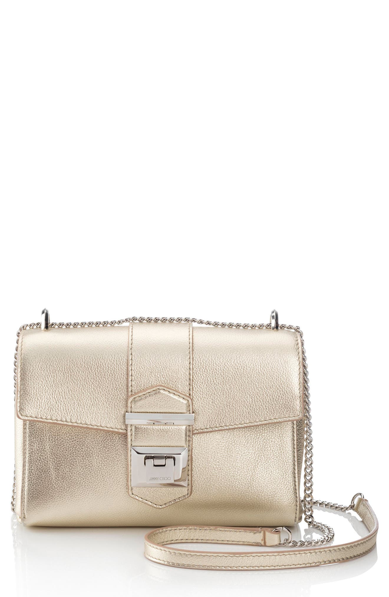 Marianne Metallic Leather Crossbody Bag,                         Main,                         color, GOLD