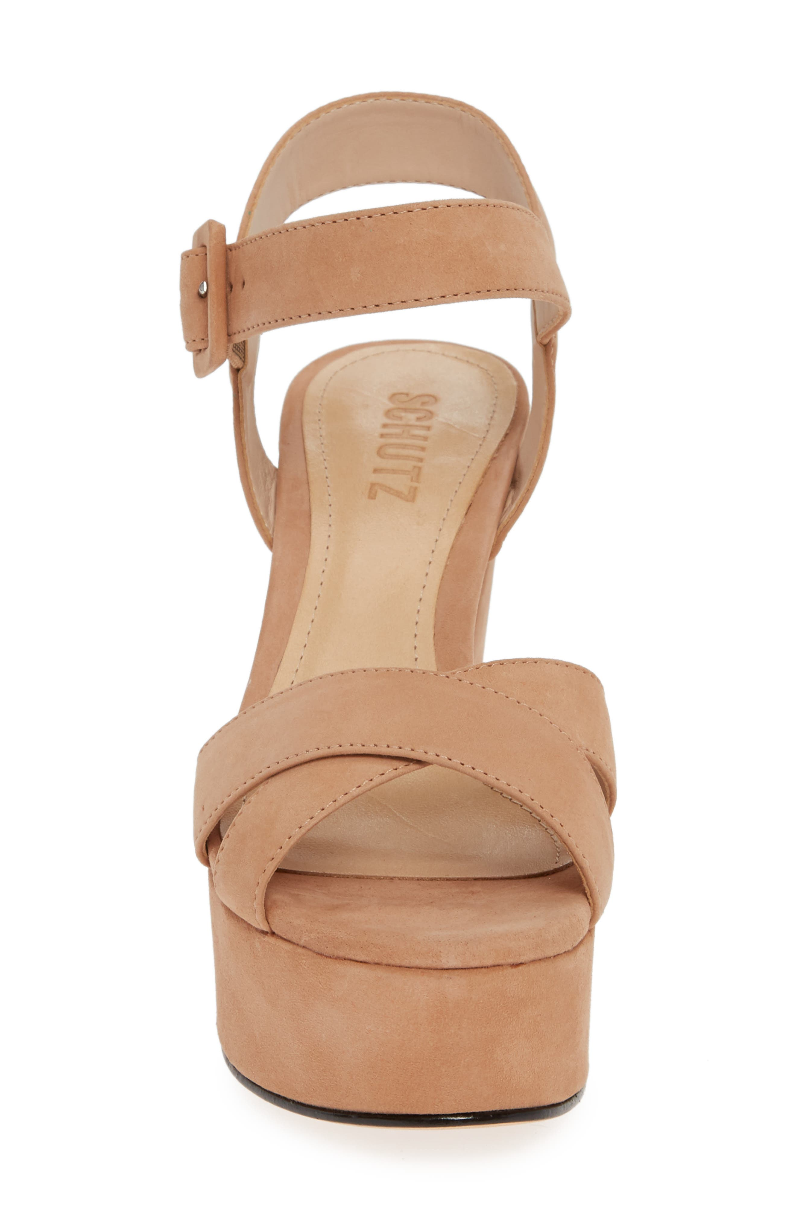 Tulia Sandal,                             Alternate thumbnail 4, color,                             HONEY BEIGE NUBUCK