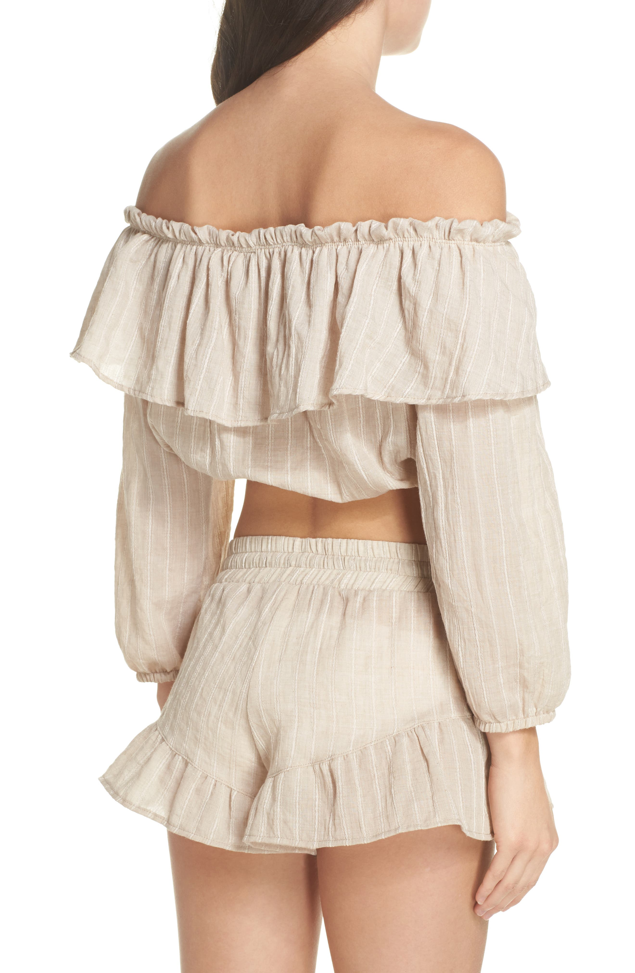 Ruffle Cover-Up Top,                             Alternate thumbnail 2, color,                             250