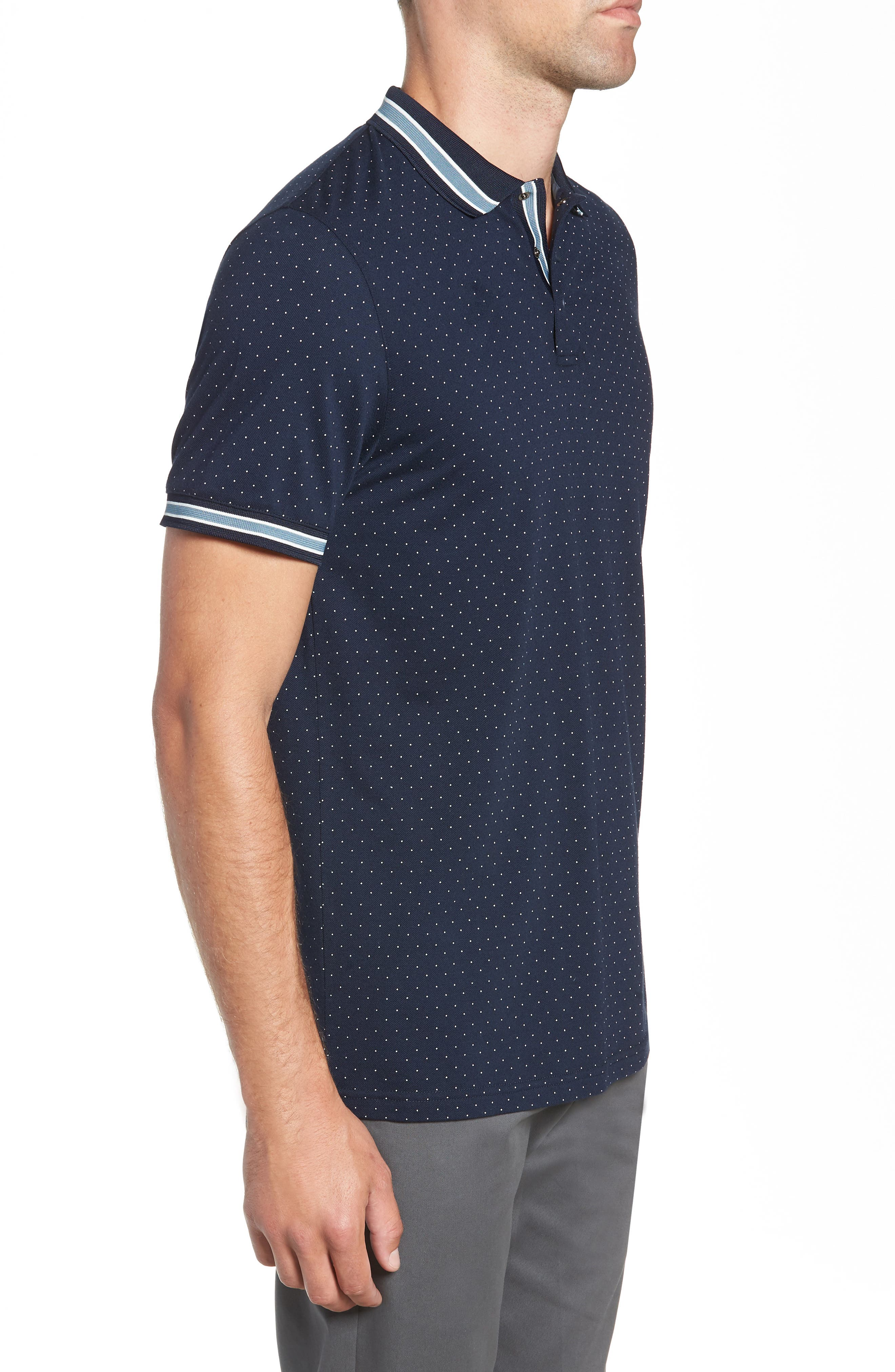 Museo Slim Fit Tipped Piqué Polo,                             Alternate thumbnail 3, color,                             410