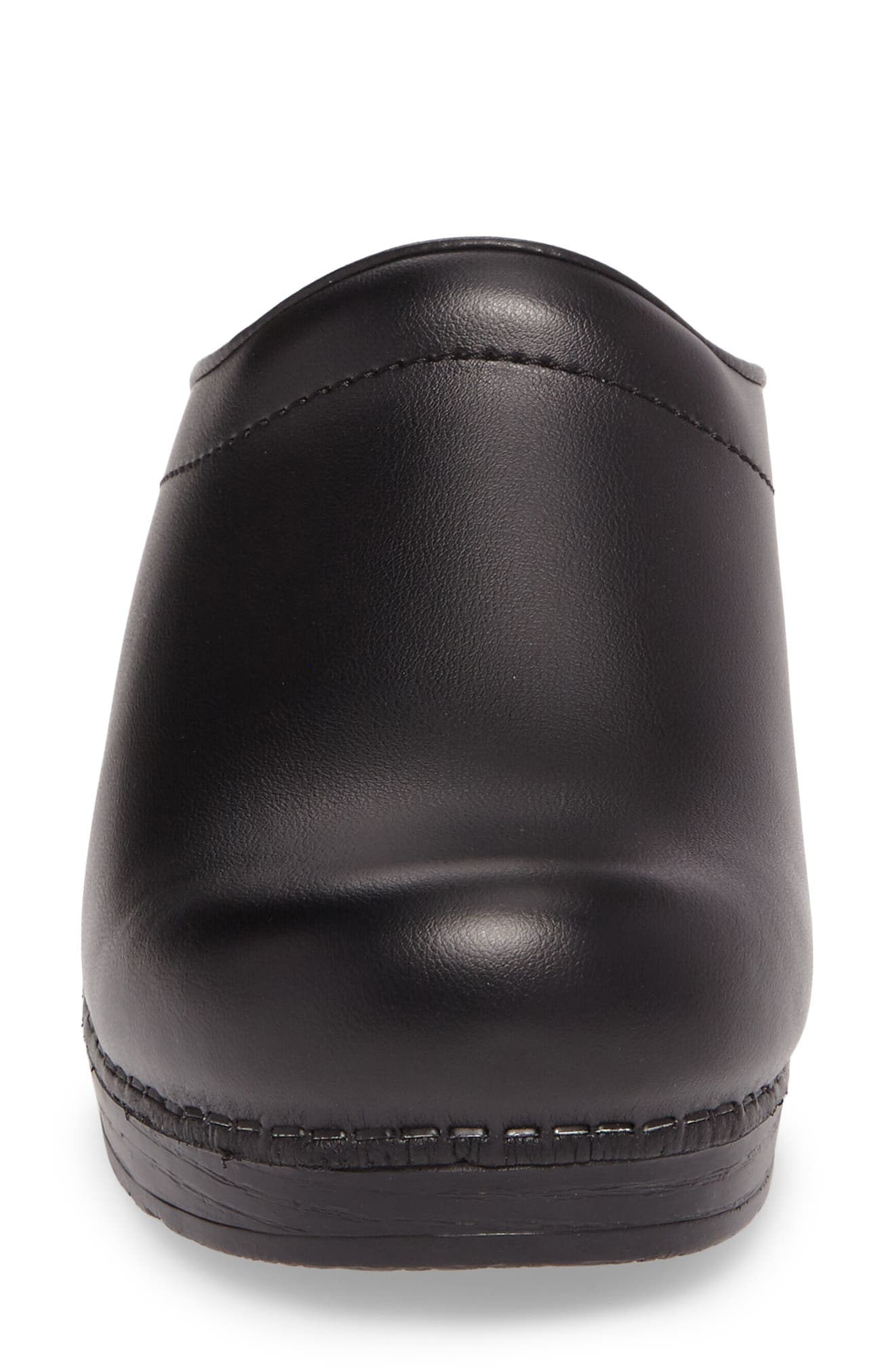 'Sonja' Patent Leather Clog,                             Alternate thumbnail 4, color,                             BLACK BOX LEATHER