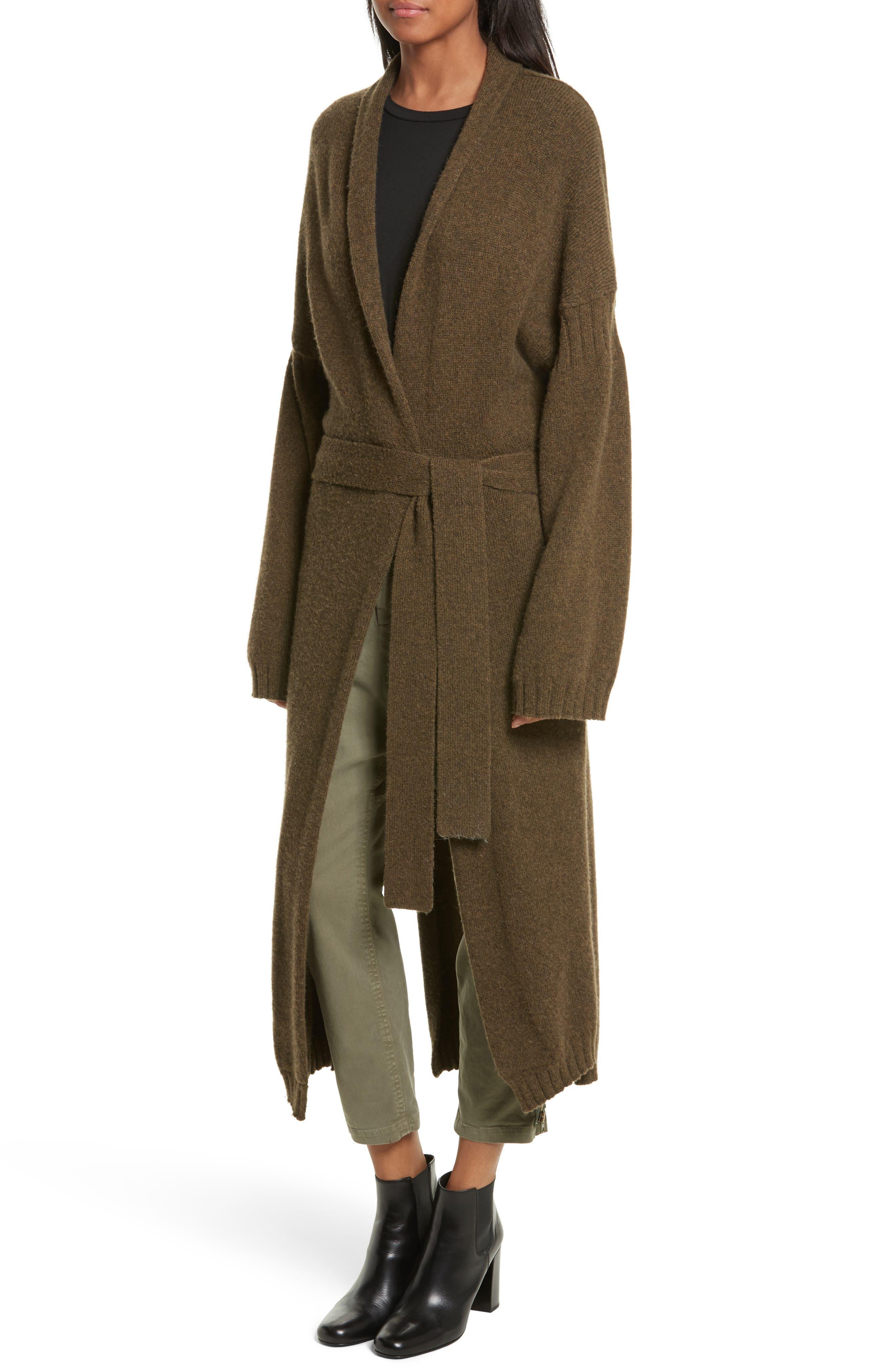 Kinsley Merino Wool Blend Cardigan,                             Alternate thumbnail 4, color,                             310