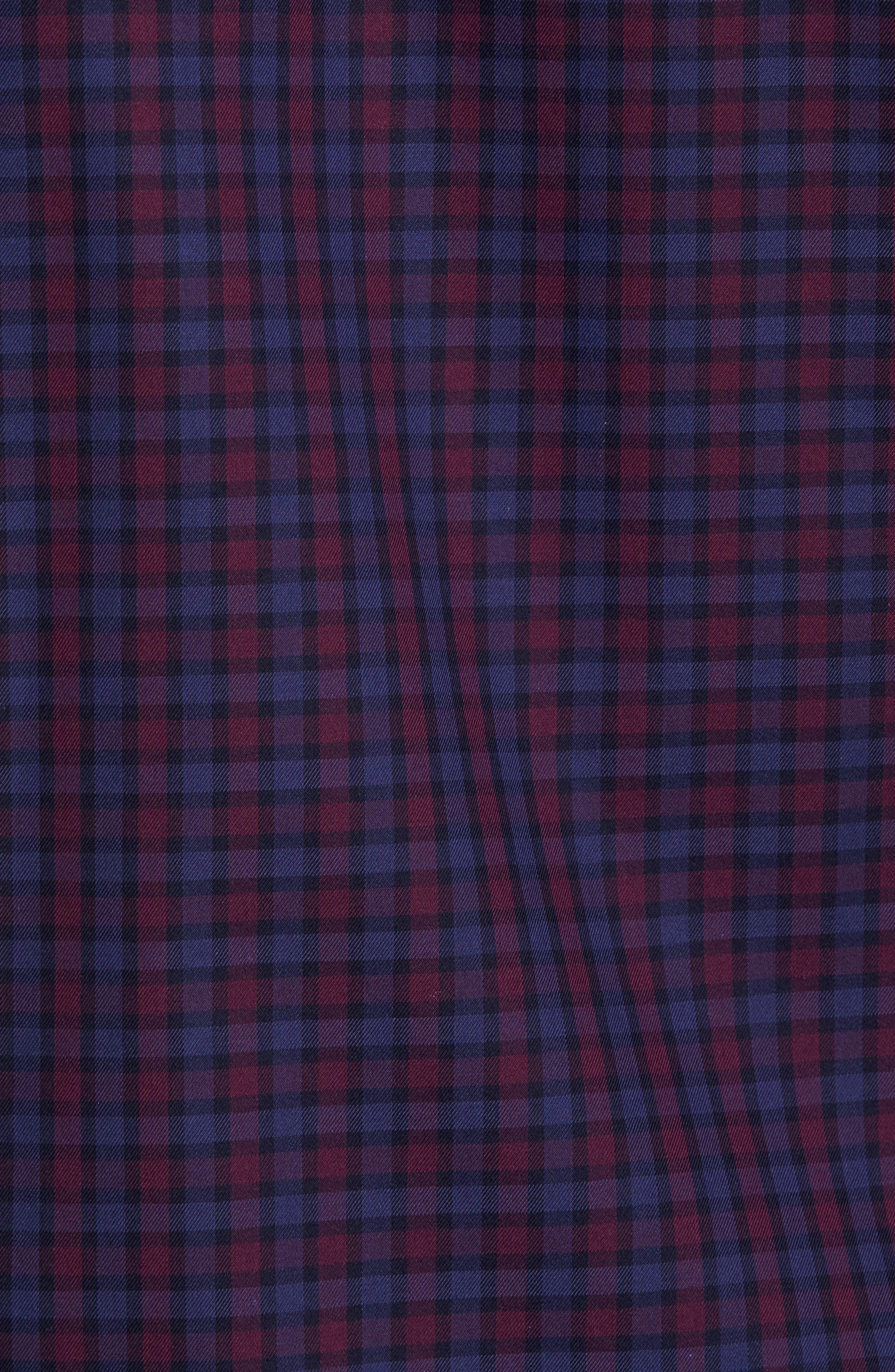 Shaped Fit Plaid Sport Shirt,                             Alternate thumbnail 5, color,                             503