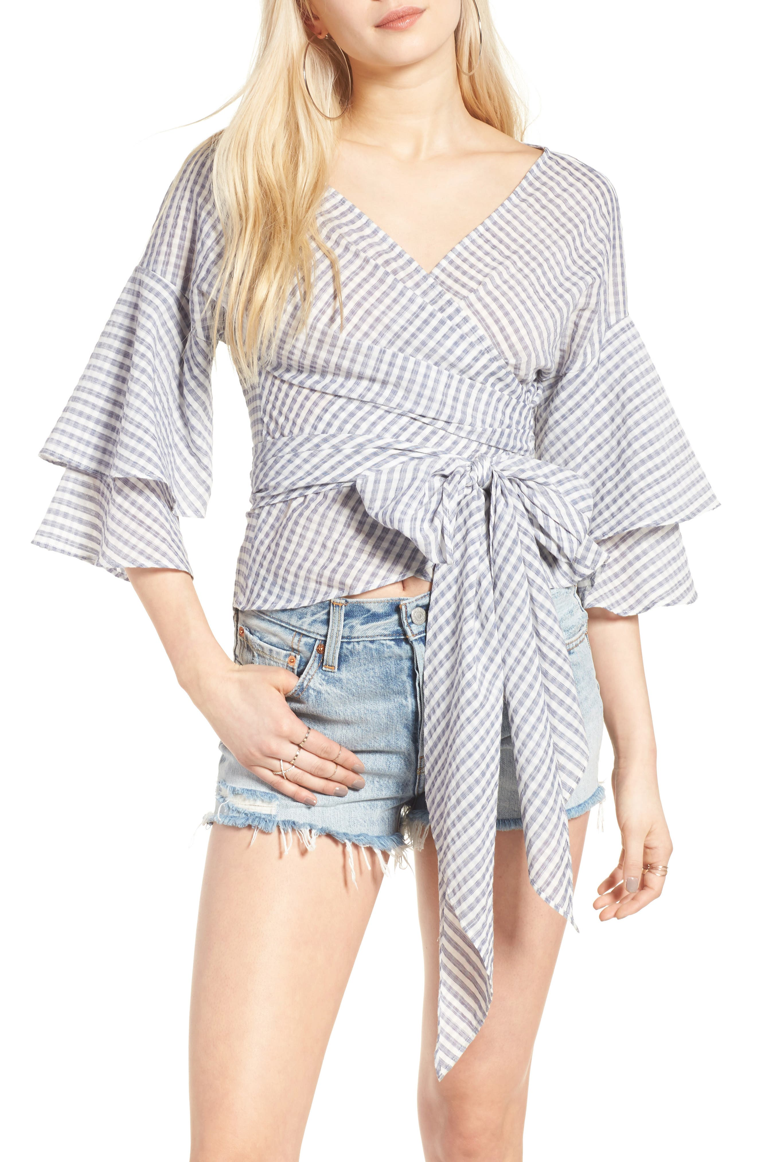 Beckett Tiered Bell Sleeve Top,                             Main thumbnail 7, color,