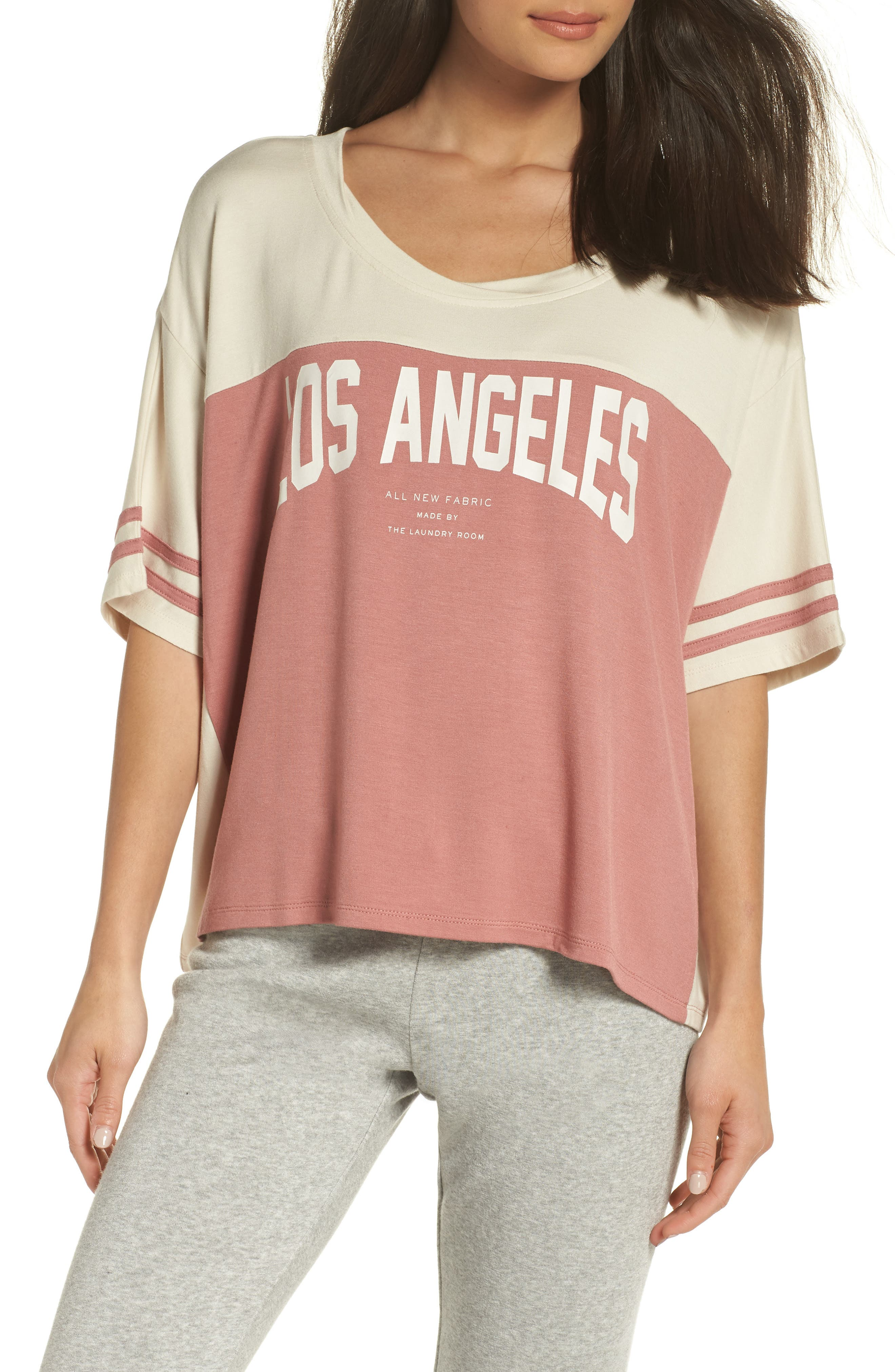 Los Angeles Crop Tee,                             Main thumbnail 1, color,                             930
