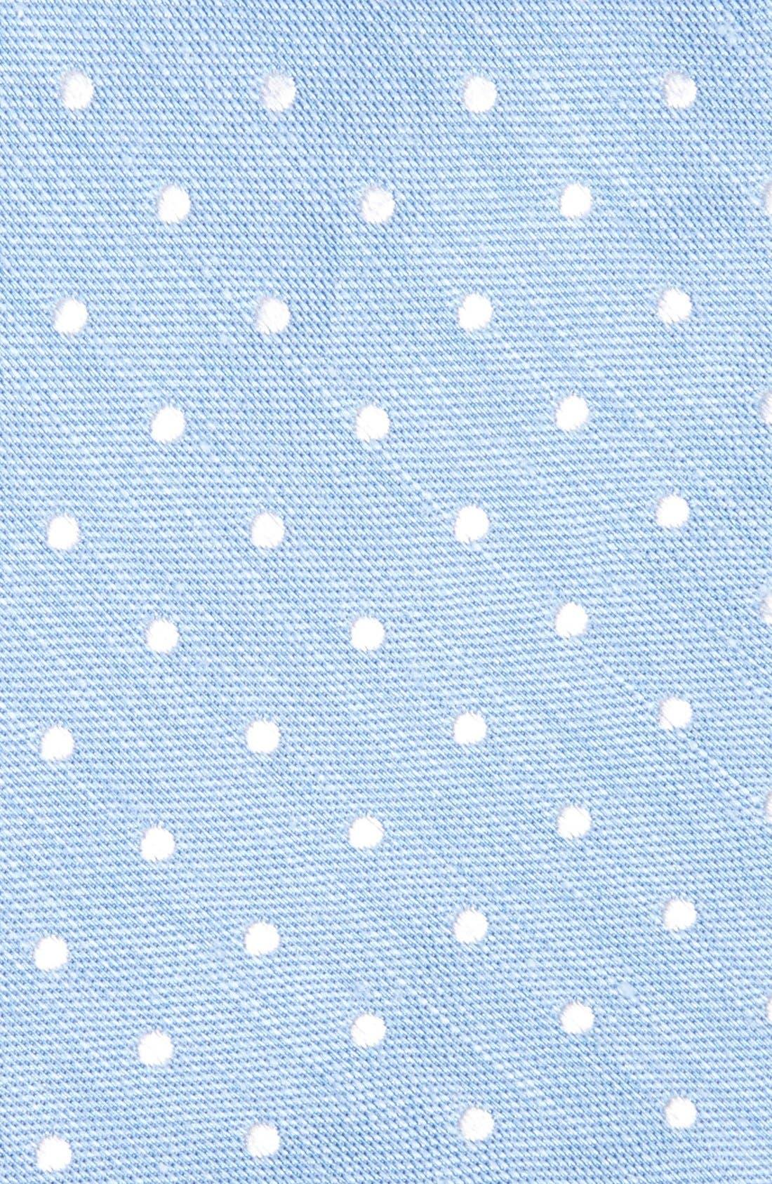 Dot Silk & Linen Tie,                             Alternate thumbnail 8, color,