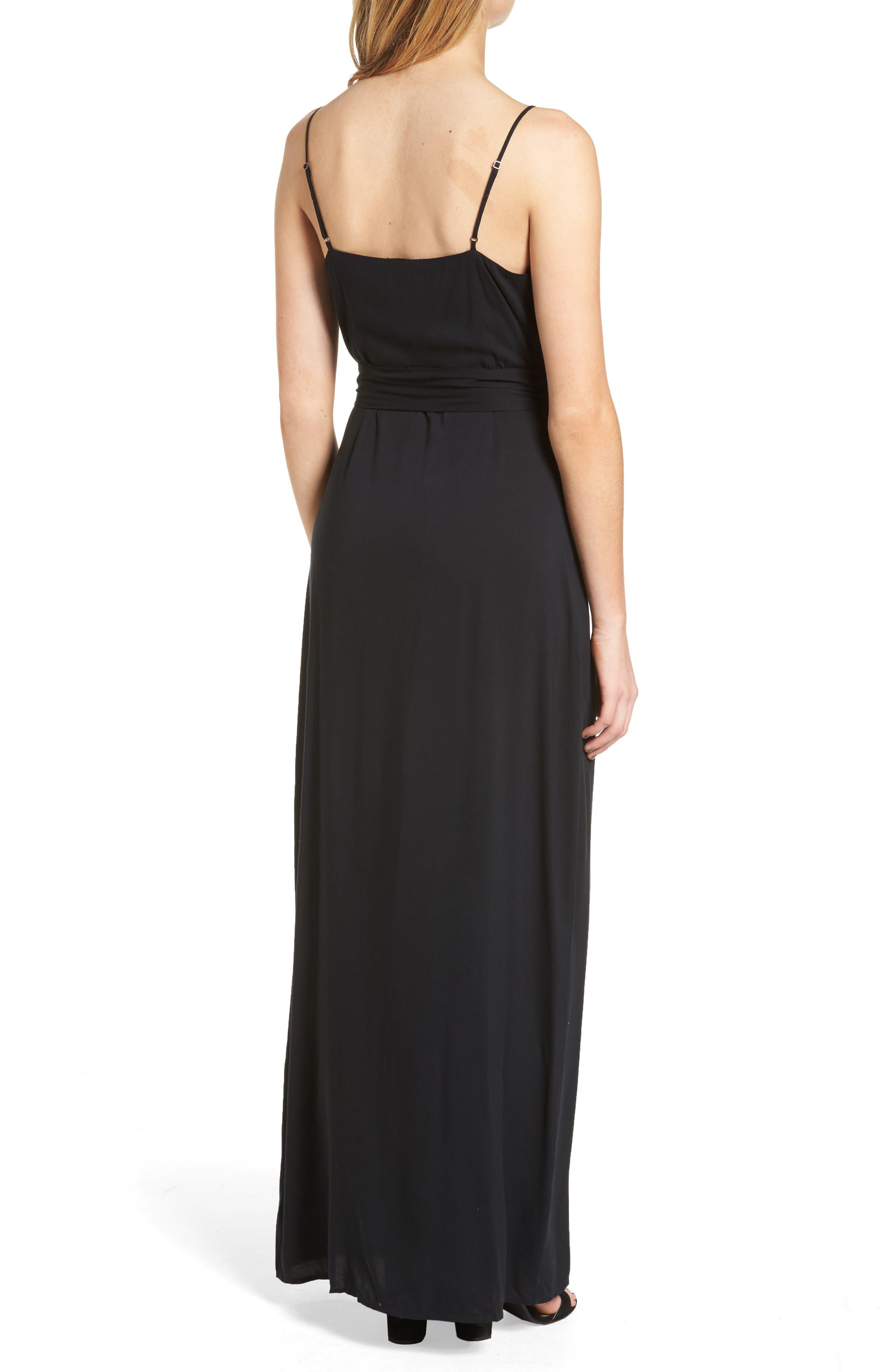 Regina Maxi Dress,                             Alternate thumbnail 2, color,                             001
