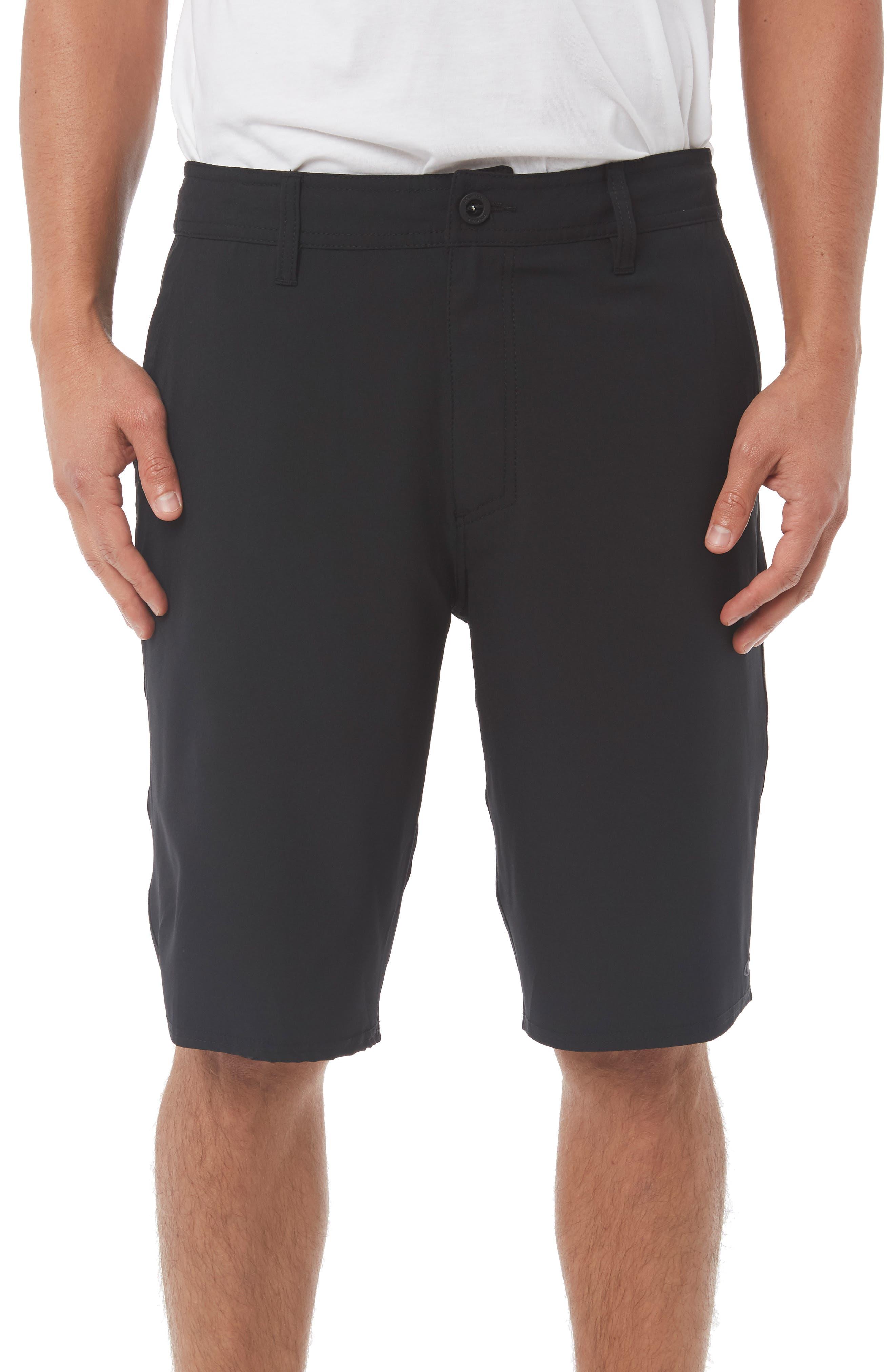 Loaded Hybrid Shorts,                             Main thumbnail 1, color,                             BLACK