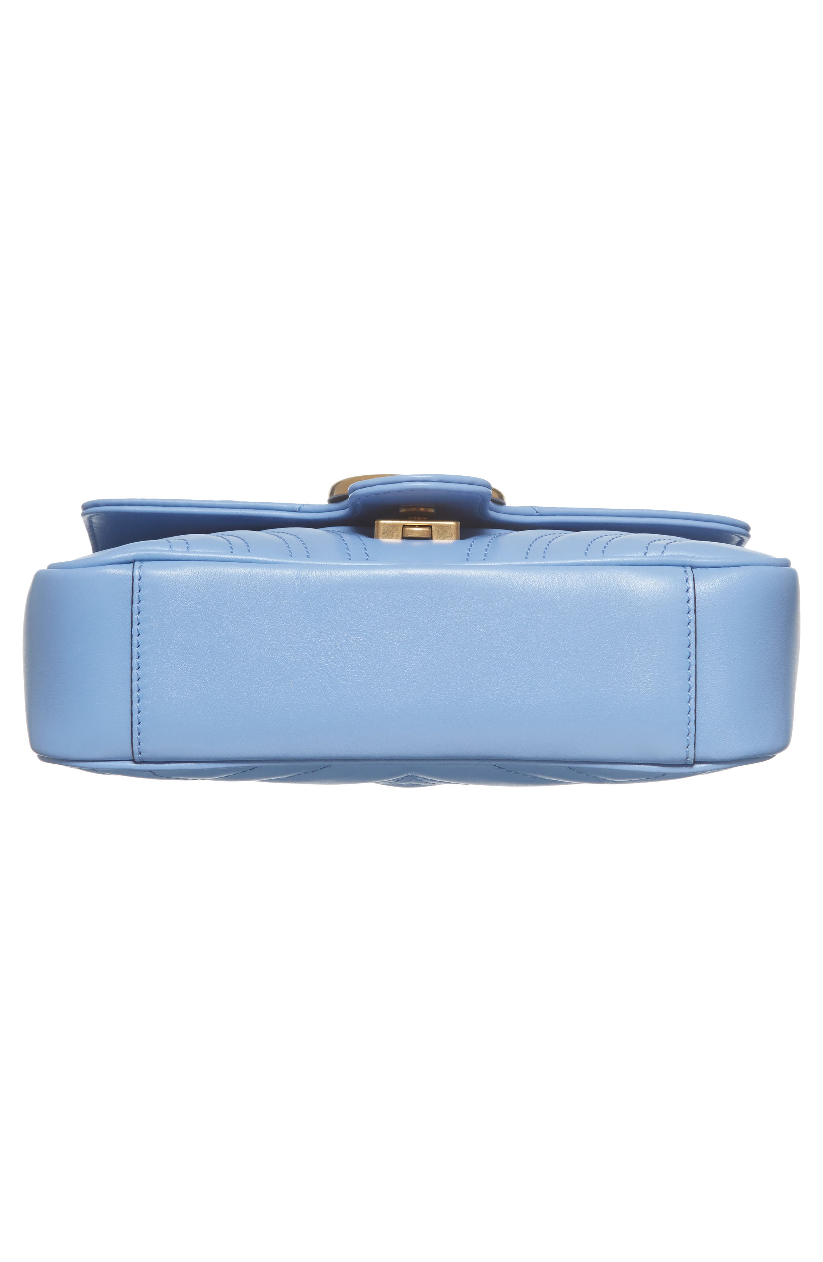 Mini GG Marmont 2.0 Matelassé Leather Shoulder Bag,                             Alternate thumbnail 6, color,                             452