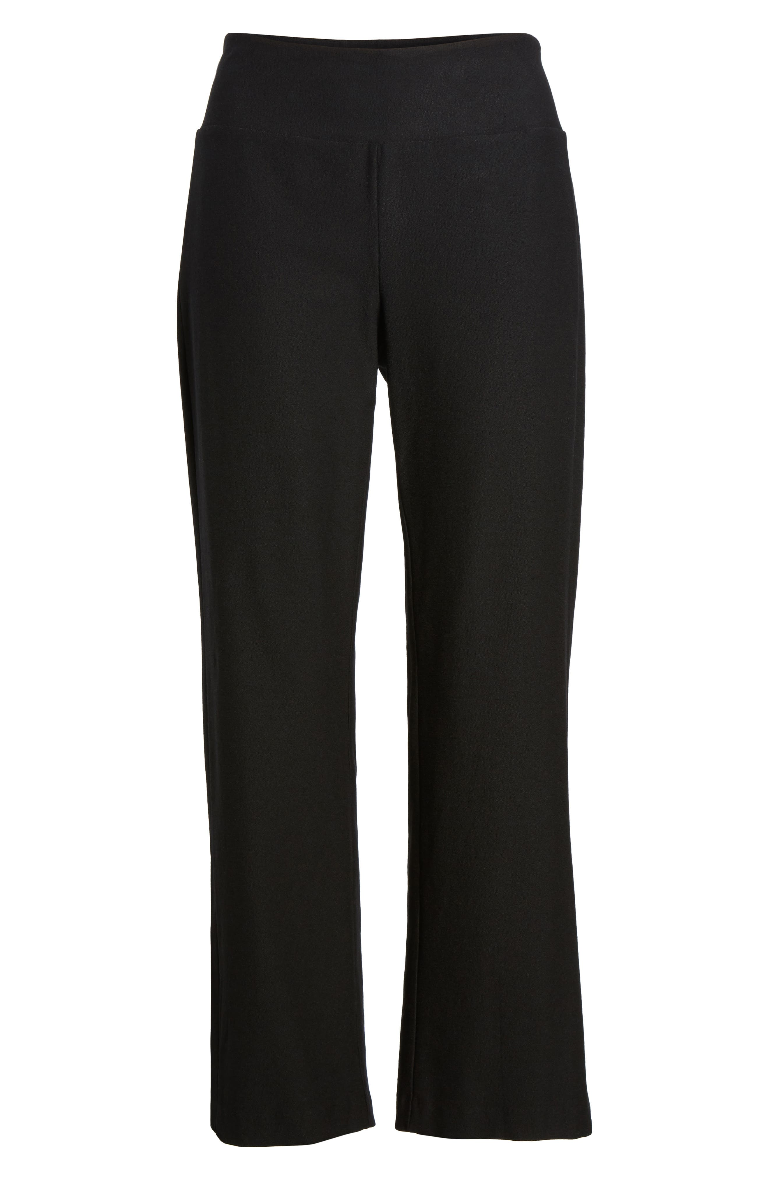 EILEEN FISHER,                             Bootcut Crop Pants,                             Alternate thumbnail 7, color,                             001