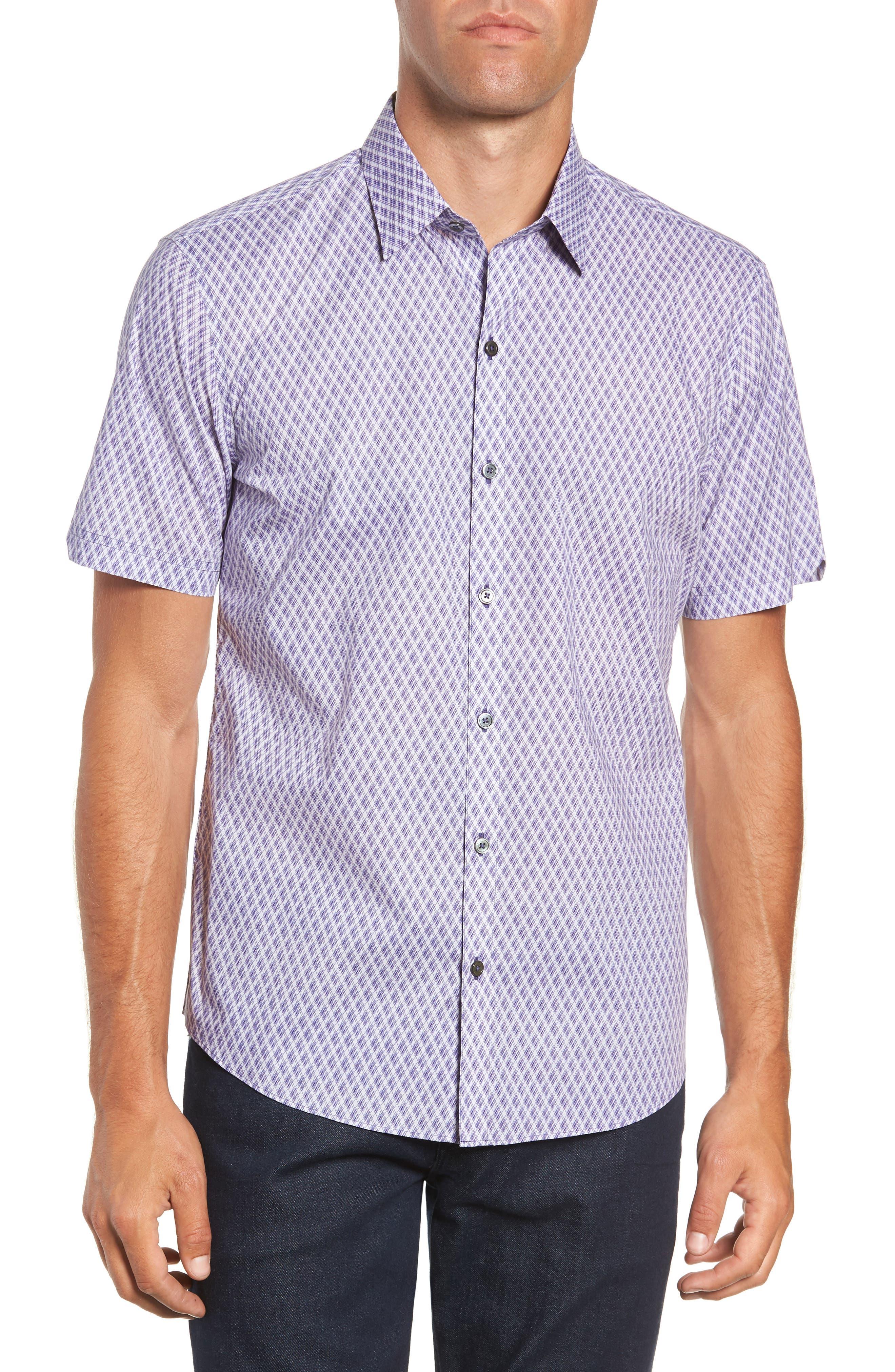 Madorin Regular Fit Sport Shirt,                             Main thumbnail 1, color,                             PURPLE