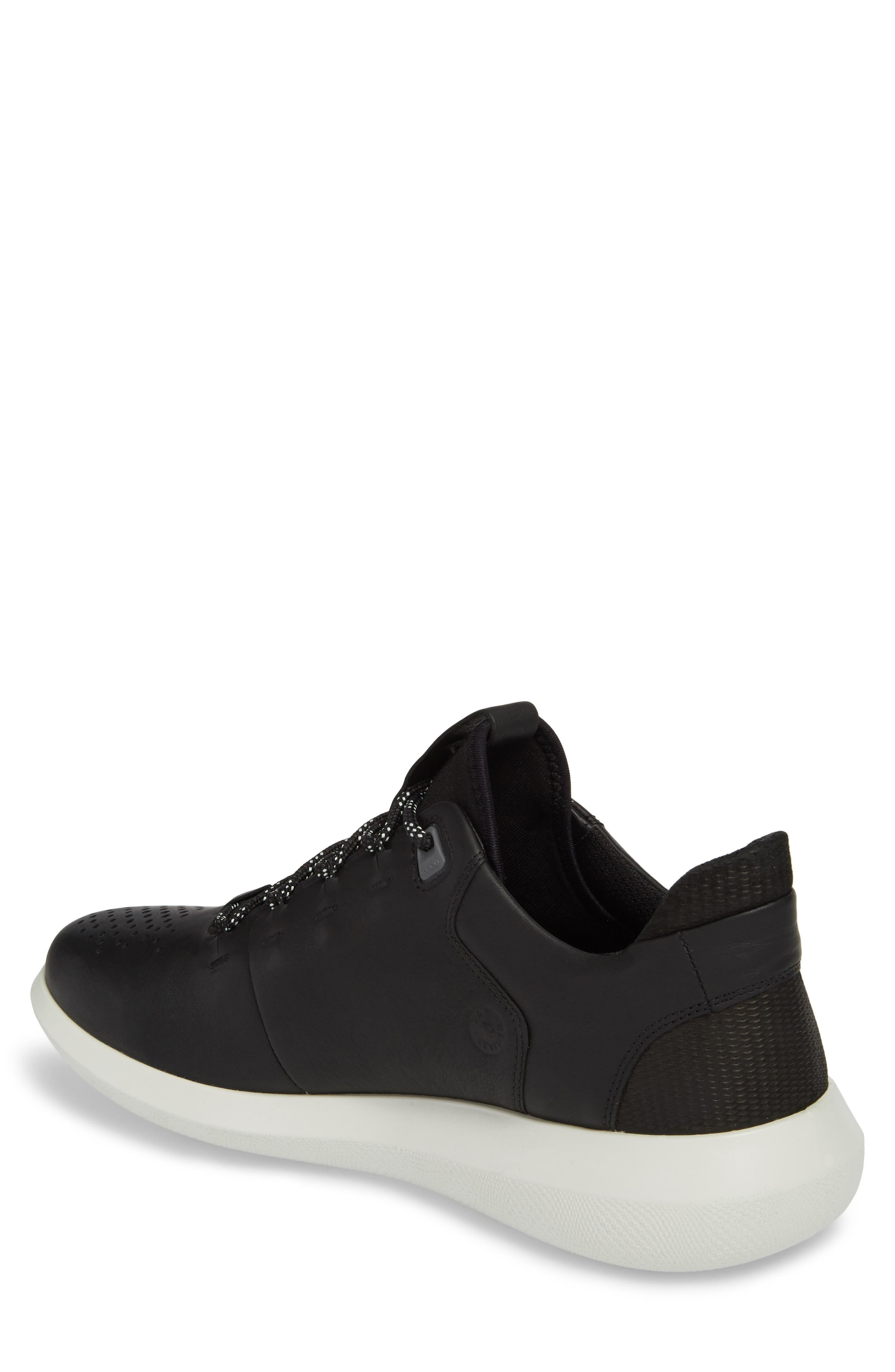 Scinapse Sneaker,                             Alternate thumbnail 2, color,                             BLACK LEATHER