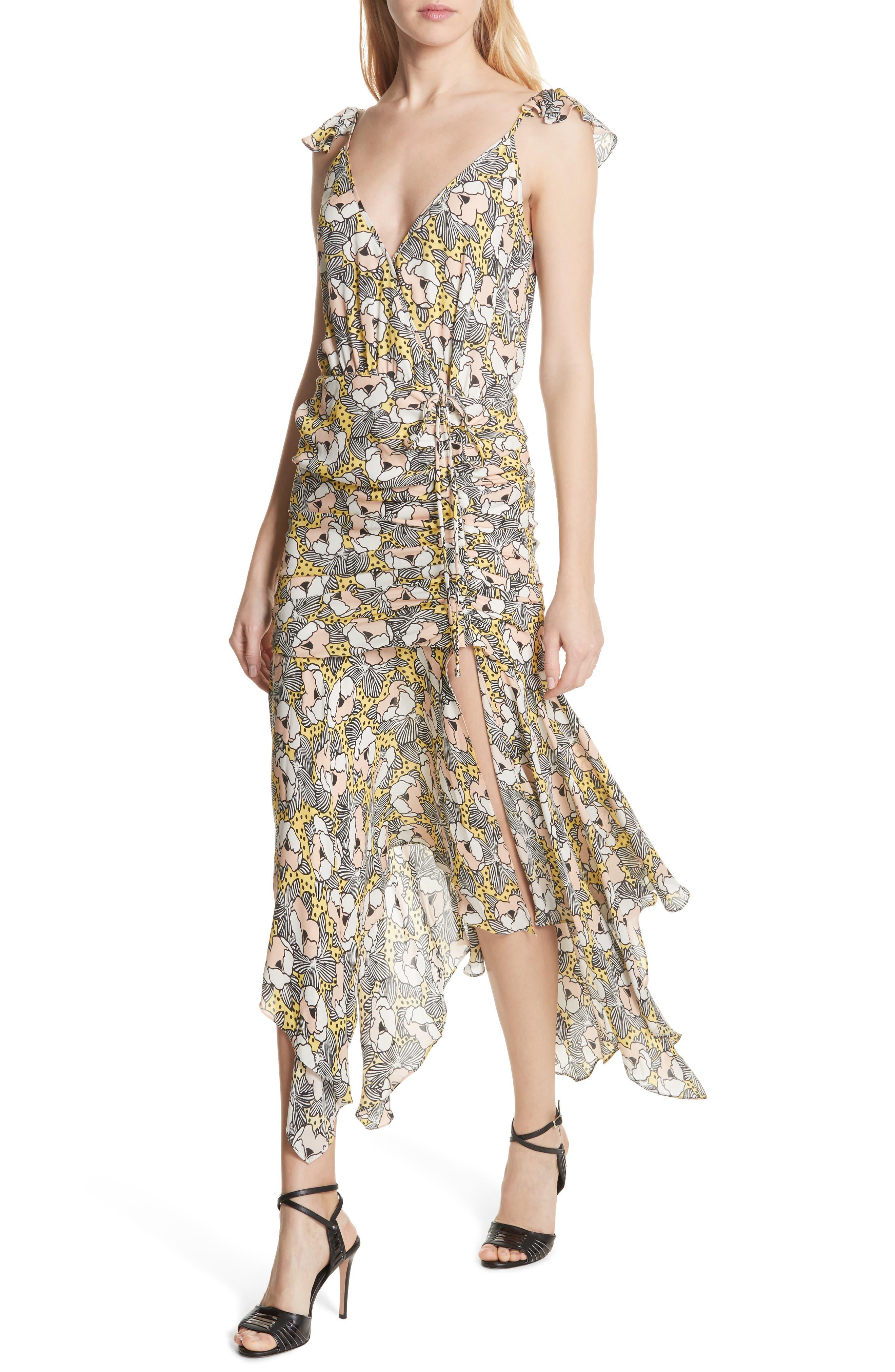 Martine Floral Print Dress,                             Alternate thumbnail 6, color,