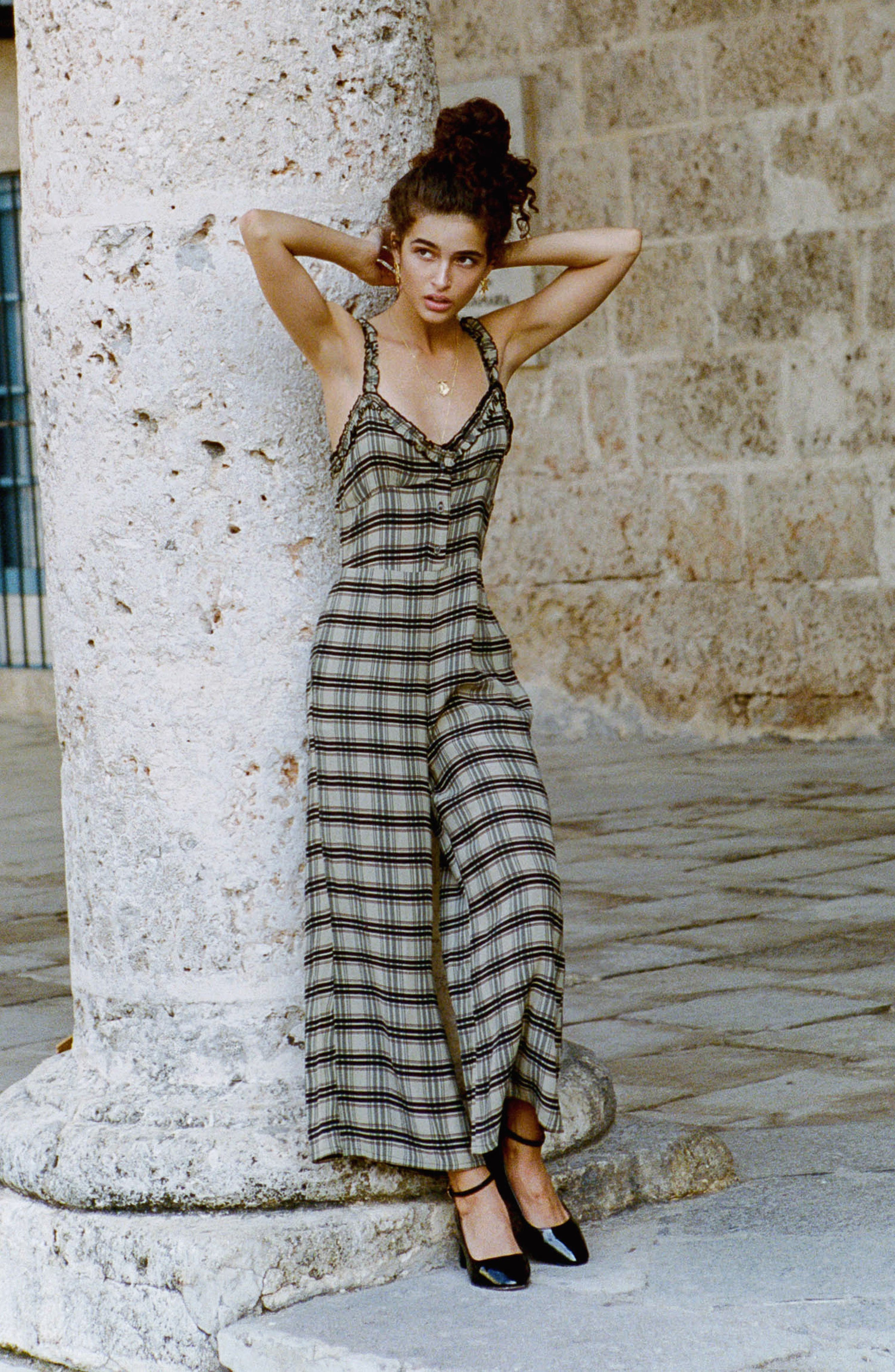 Cancun Plaid Jumpsuit,                             Alternate thumbnail 7, color,                             HILLARY PRINT