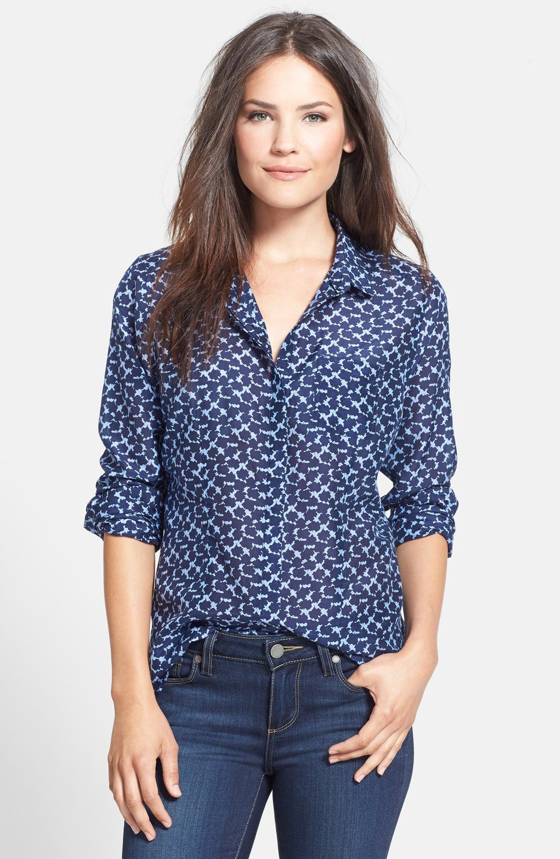 Cotton & Silk Shirt,                             Main thumbnail 24, color,