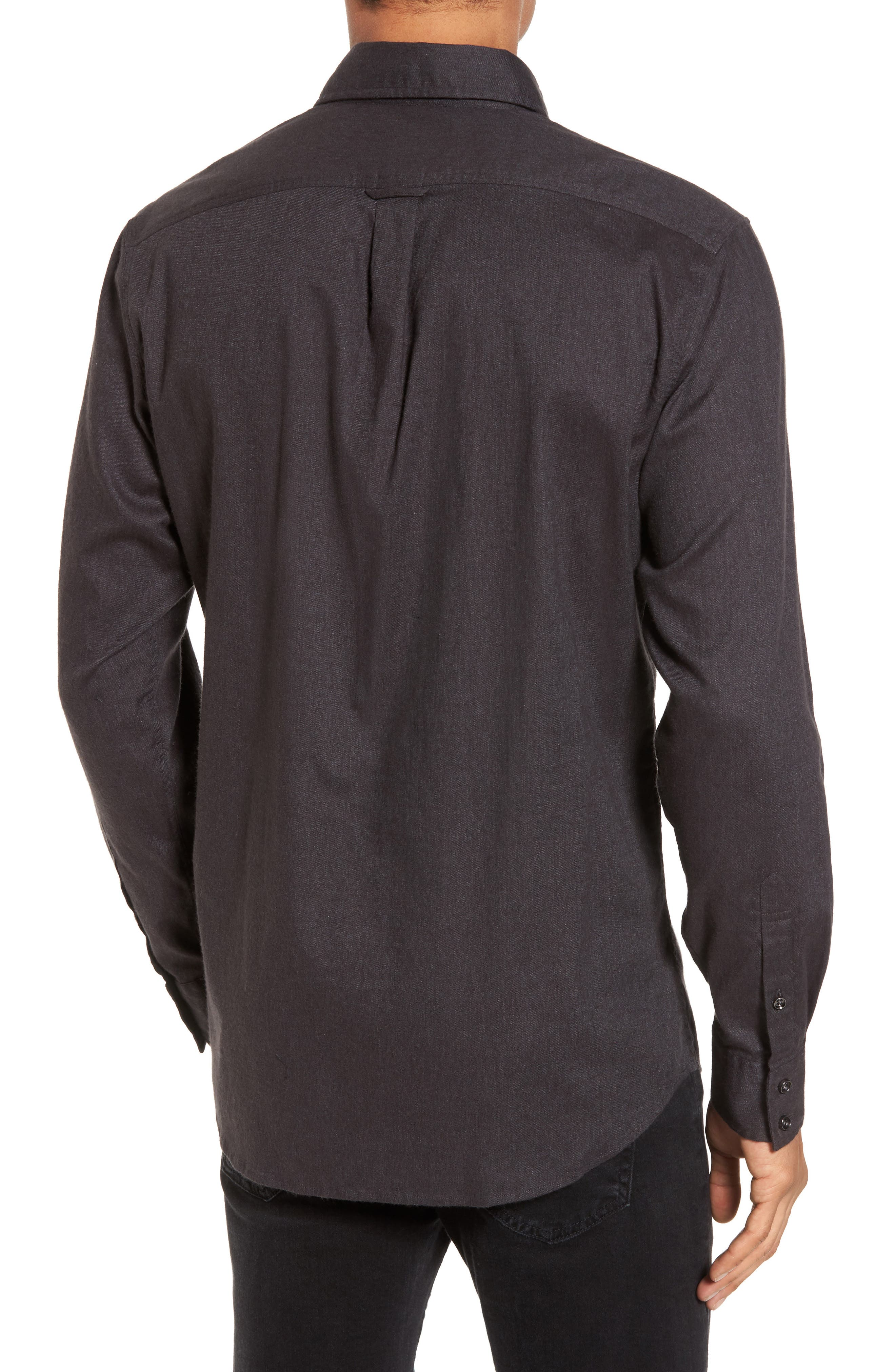 'Sinclair' Trim Fit Brushed Twill Sport Shirt,                             Alternate thumbnail 2, color,                             021