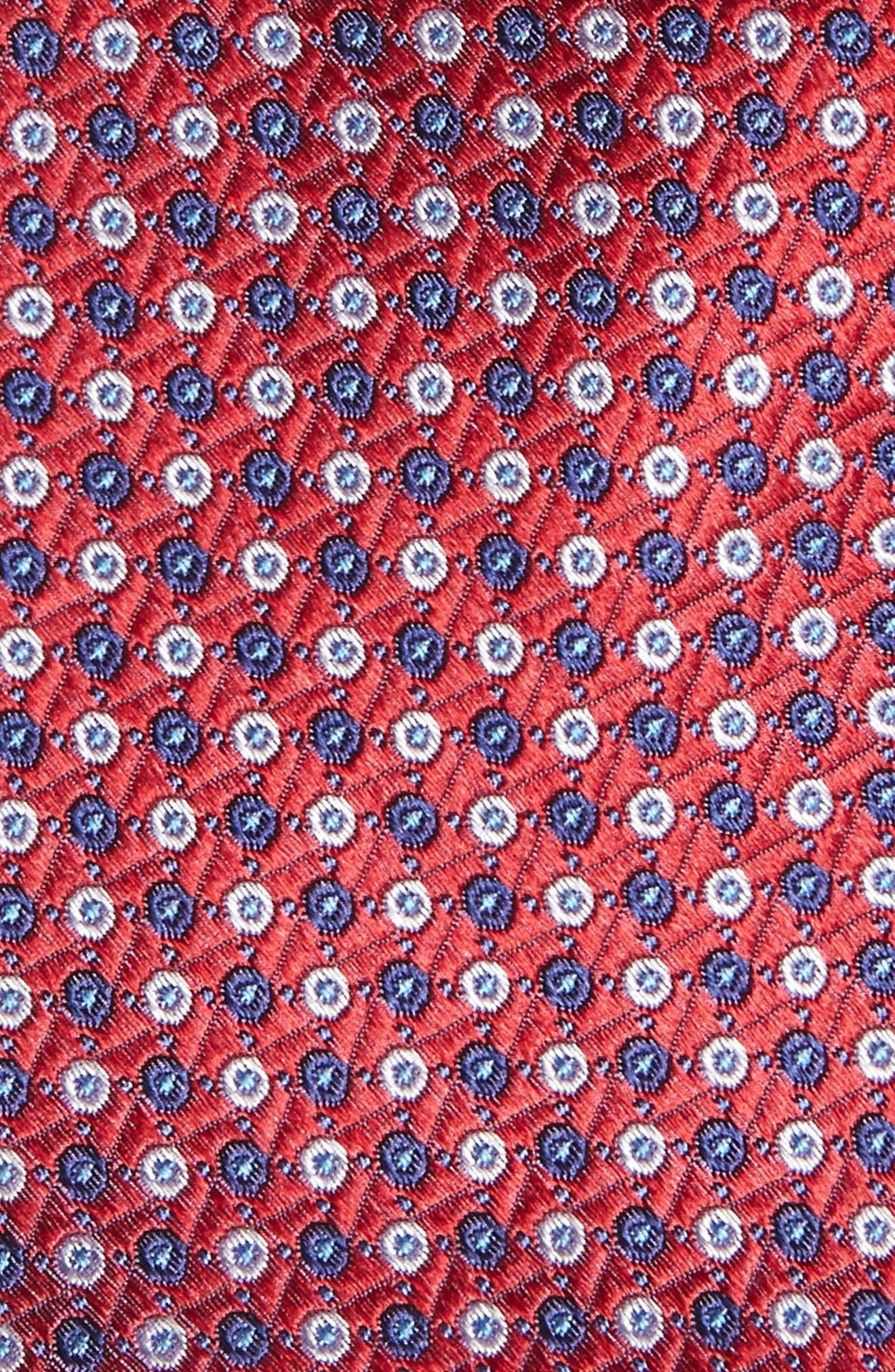 Neat Medallion Silk Tie,                             Alternate thumbnail 2, color,                             600