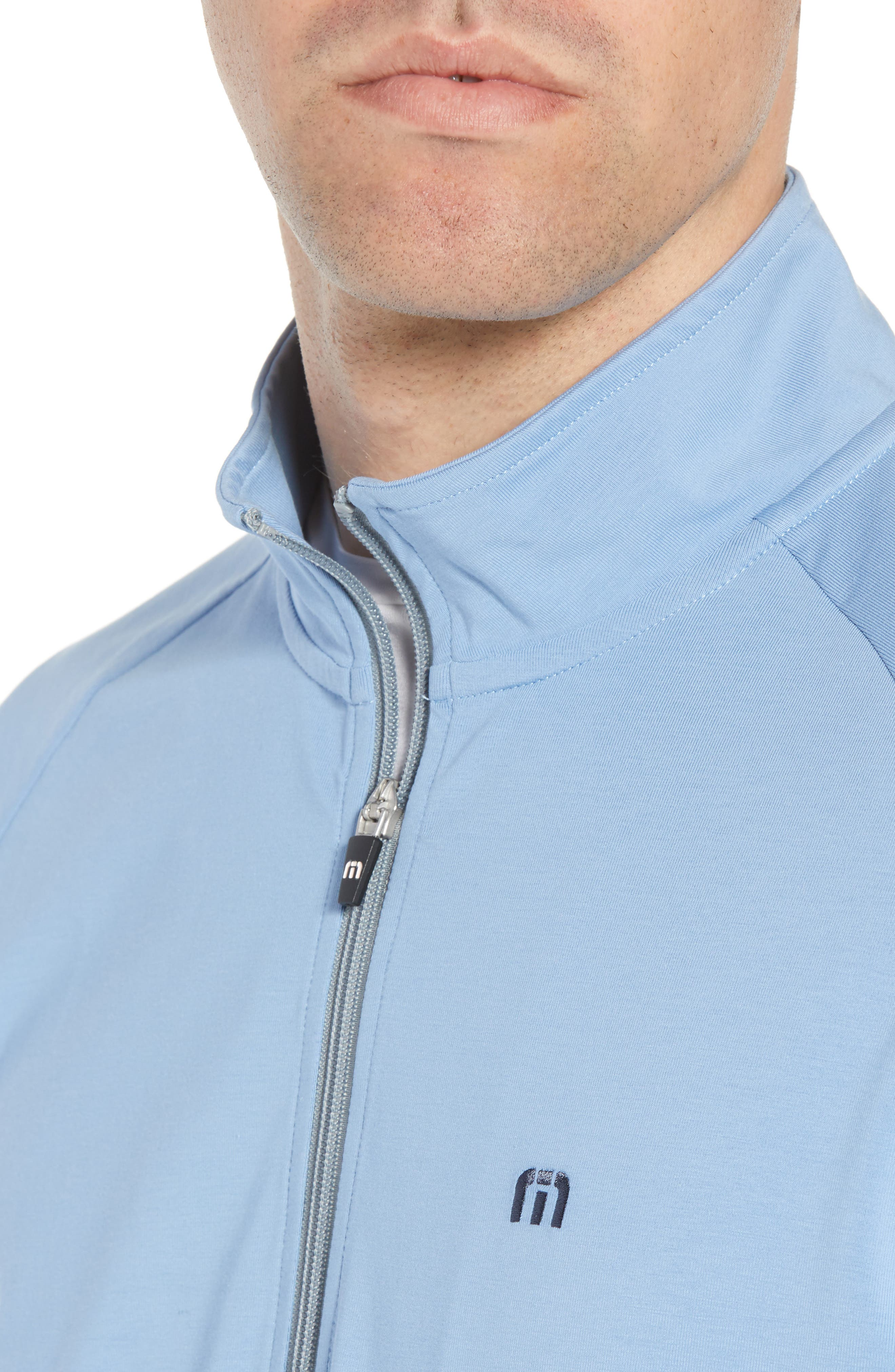 'Strange Love' Trim Fit Wrinkle Resistant Quarter Zip Jacket,                             Alternate thumbnail 4, color,                             ALLURE