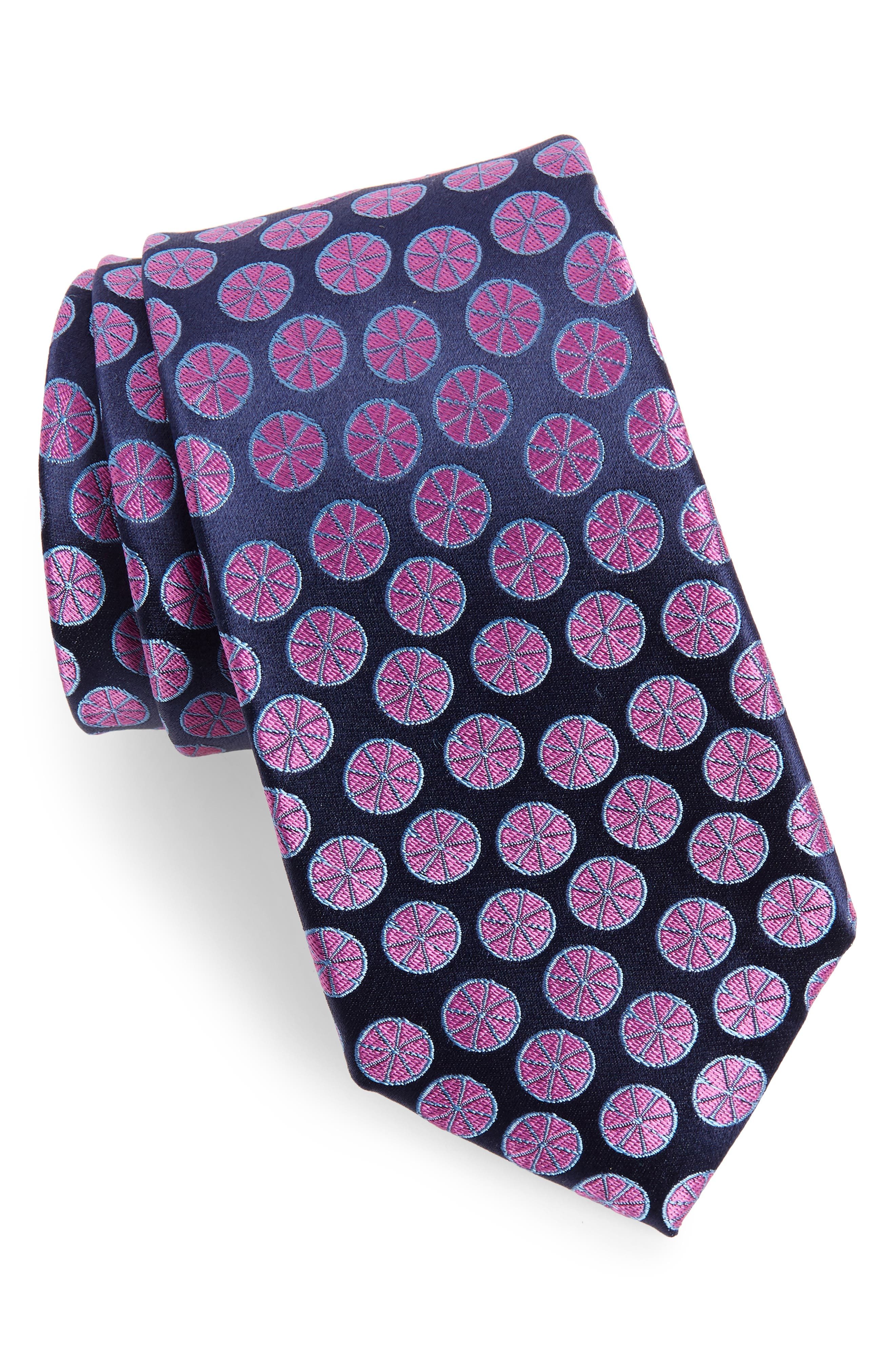 Summer Slices Medallion Silk Tie,                             Main thumbnail 1, color,                             410