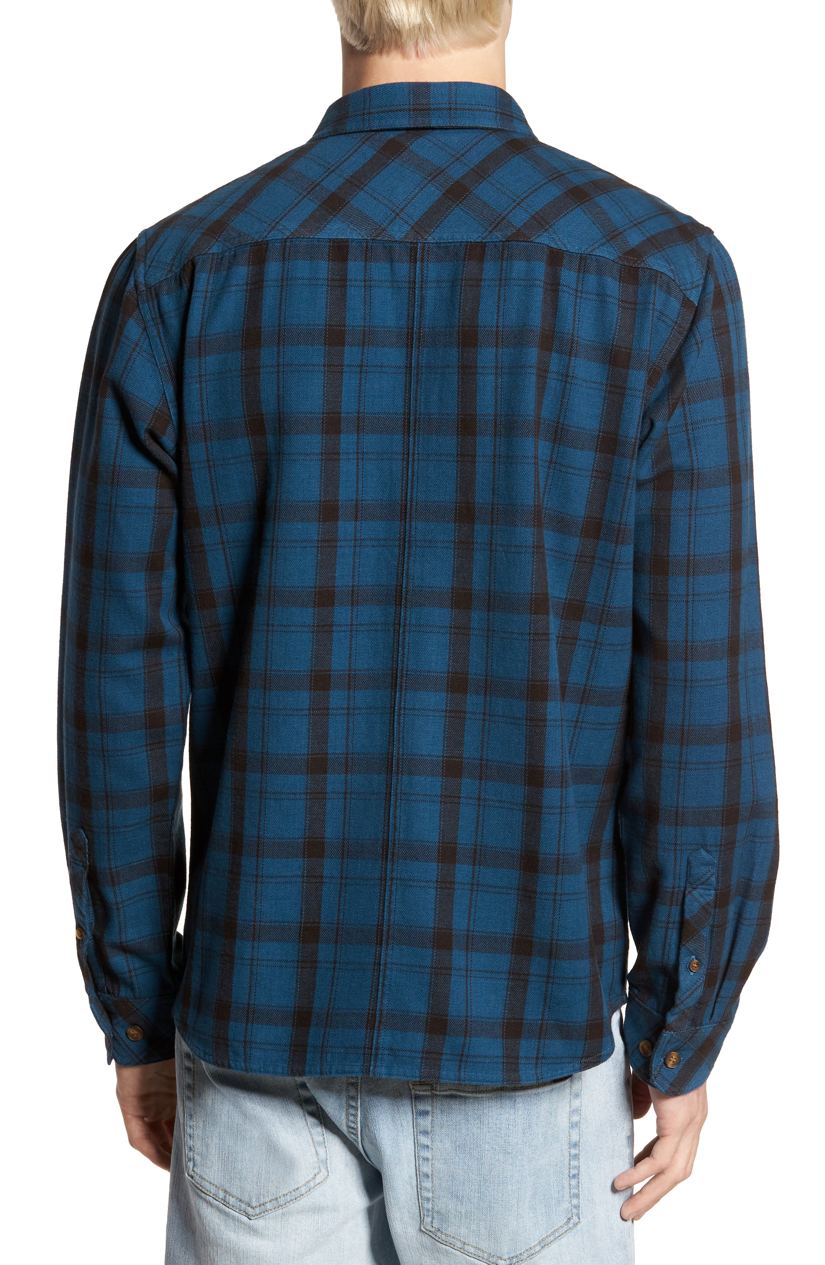Carpenter Flannel Shirt,                             Alternate thumbnail 6, color,