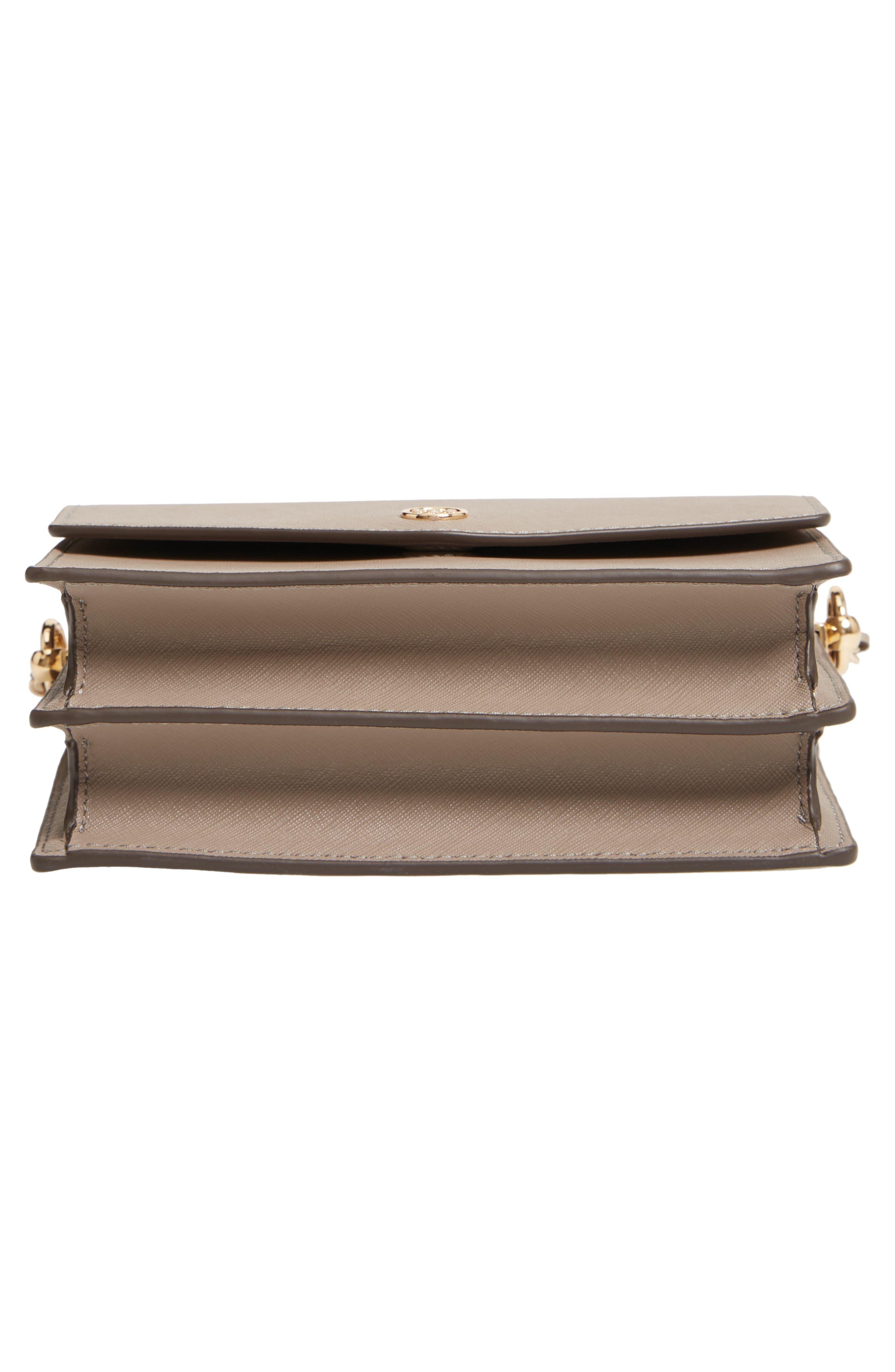 Mini Robinson Convertible Leather Shoulder Bag,                             Alternate thumbnail 6, color,                             GRAY HERON