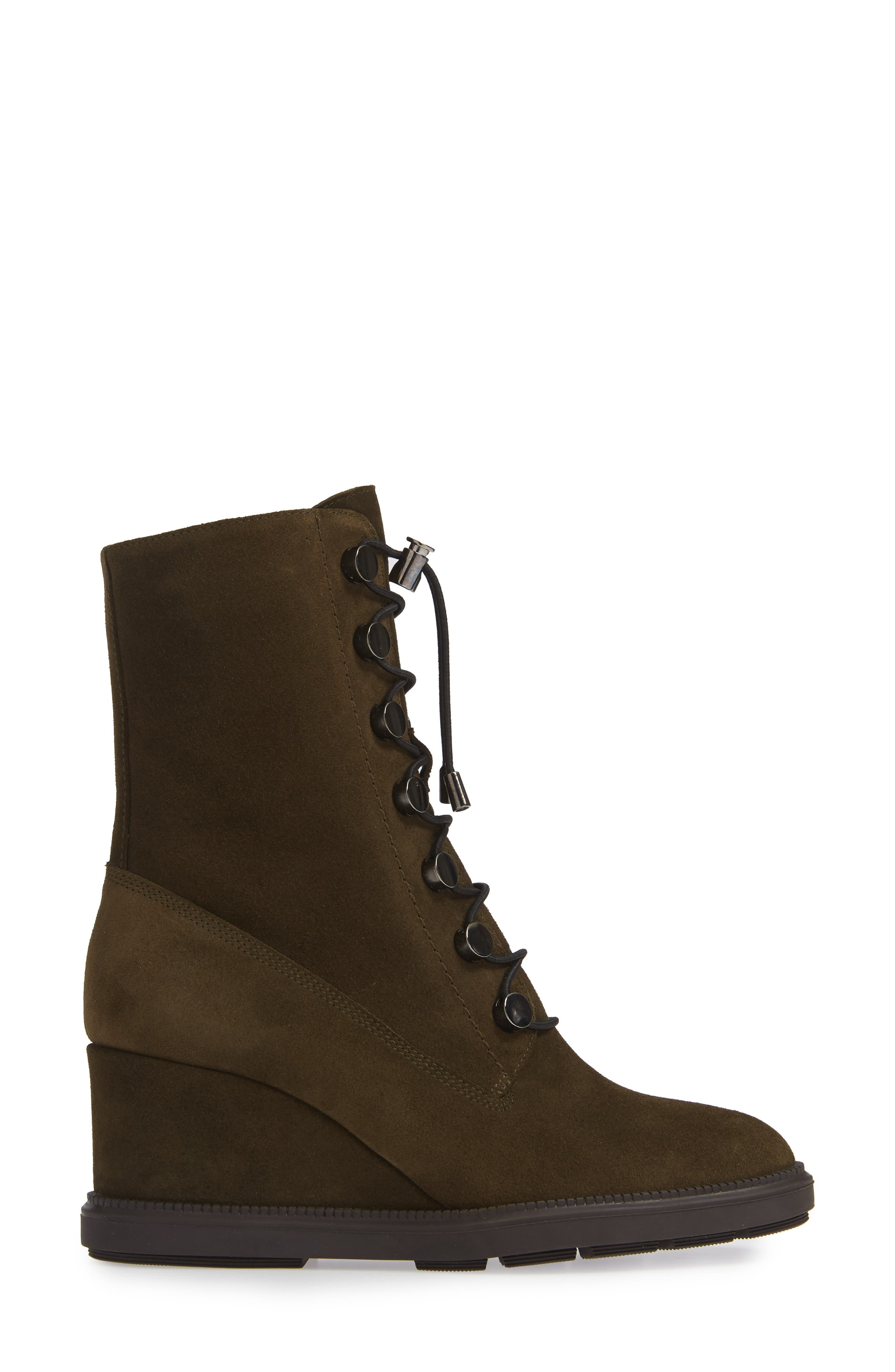 Campbell Wedge Boot,                             Alternate thumbnail 3, color,                             HERB SUEDE