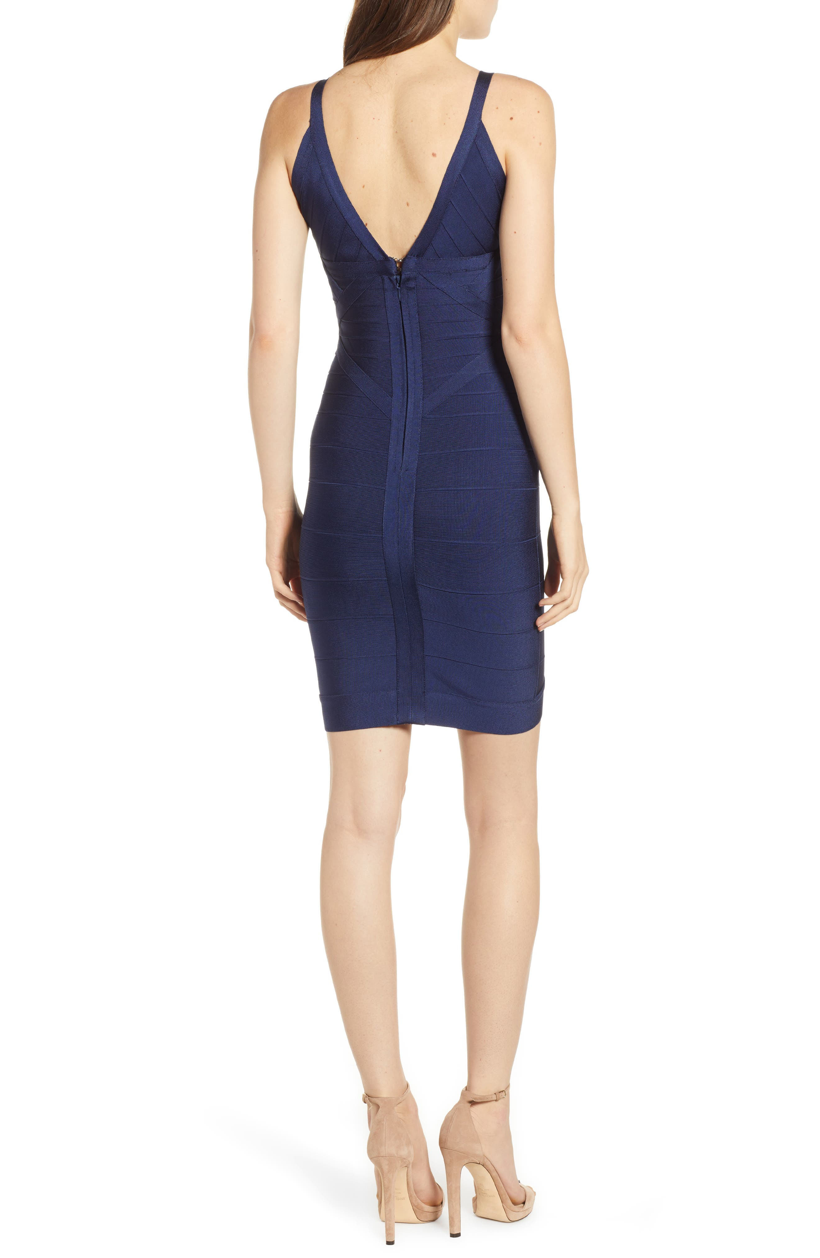 Bandage Body-Con Dress,                             Alternate thumbnail 2, color,                             NAVY BLUE