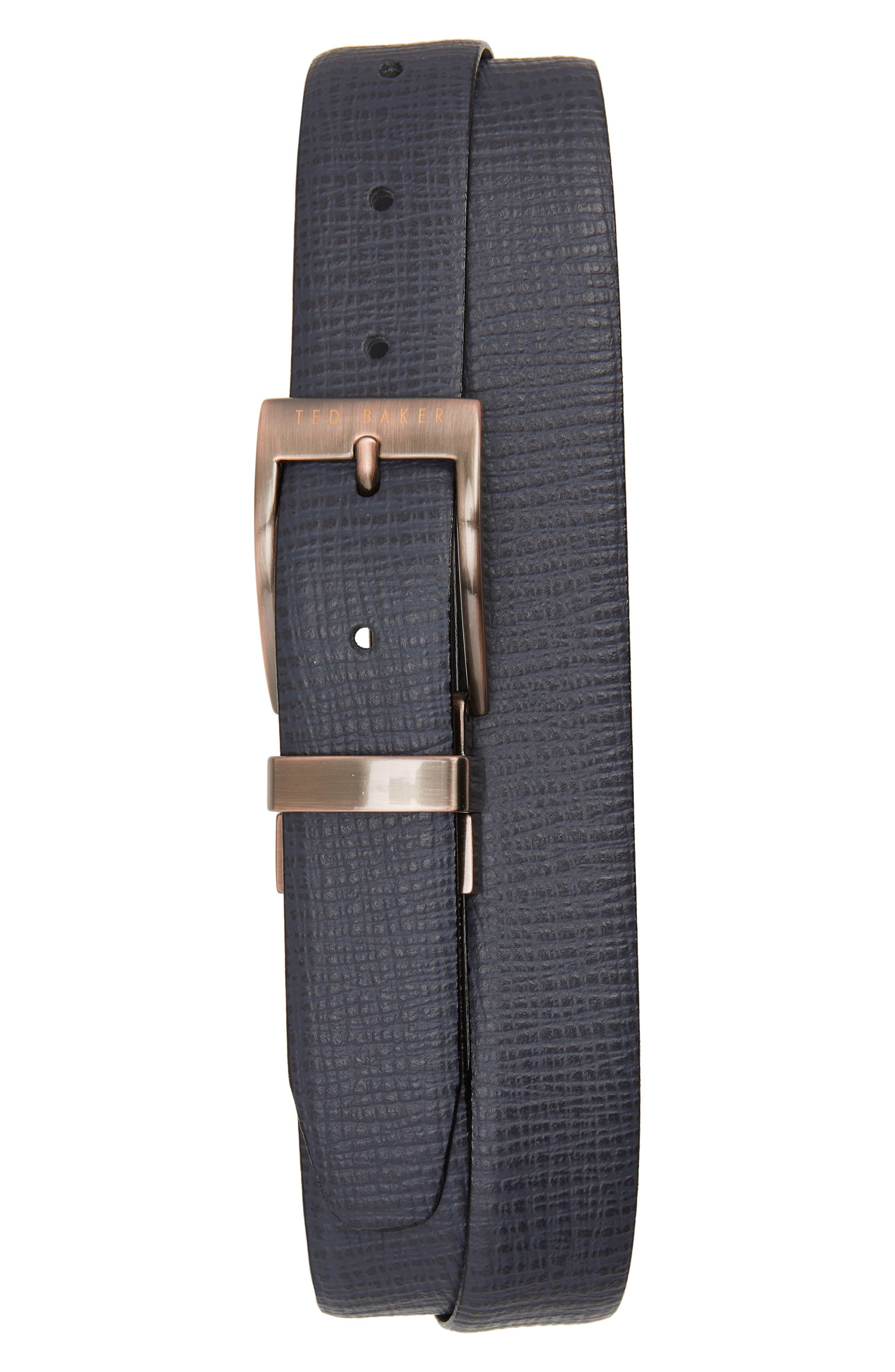 Kong Reversible Leather Belt,                             Main thumbnail 1, color,                             410