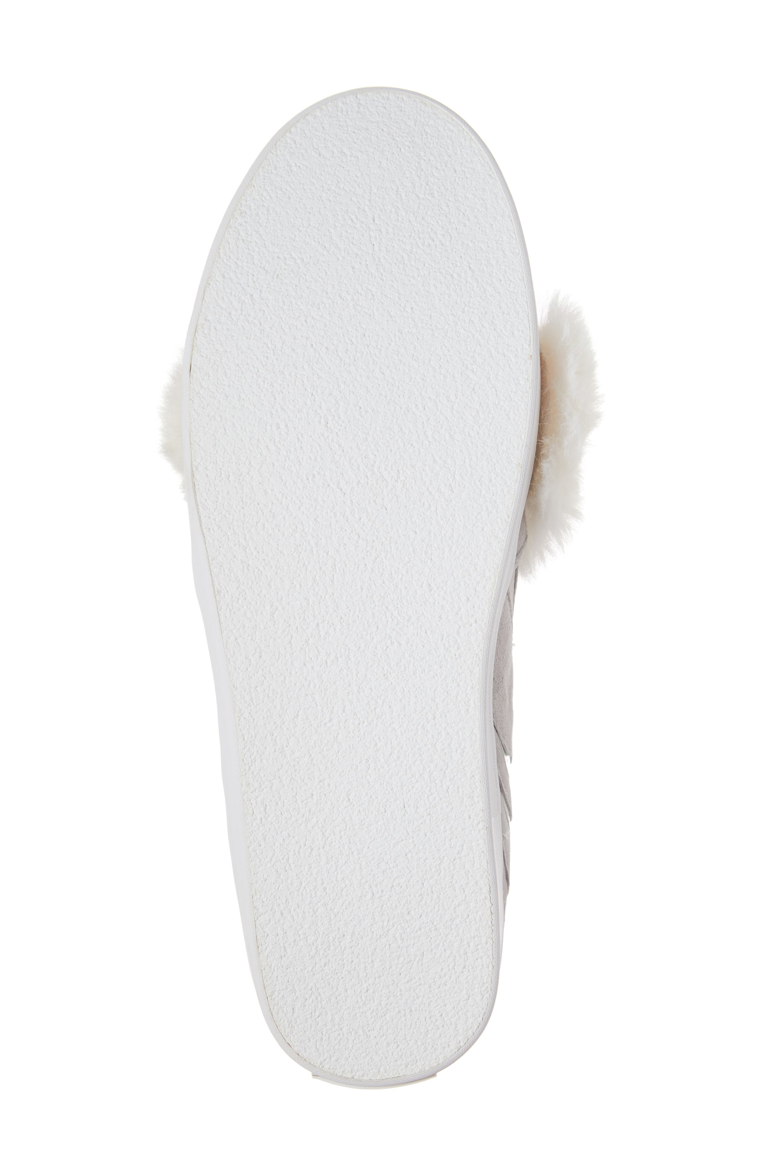 leferts faux fur trim slip-on sneaker,                             Alternate thumbnail 6, color,                             020