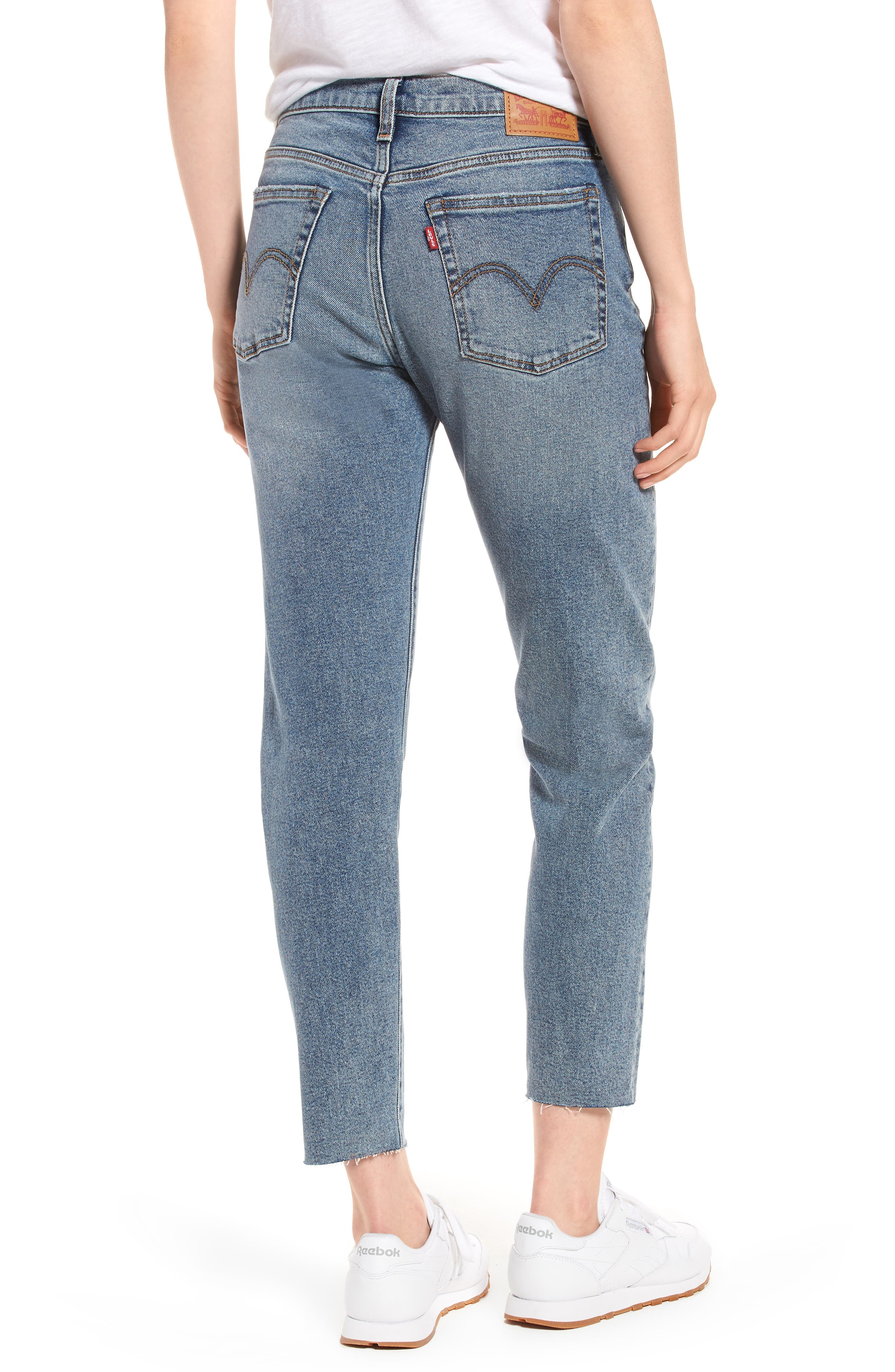 Wedgie Icon Fit High Waist Crop Jeans,                             Alternate thumbnail 2, color,                             401