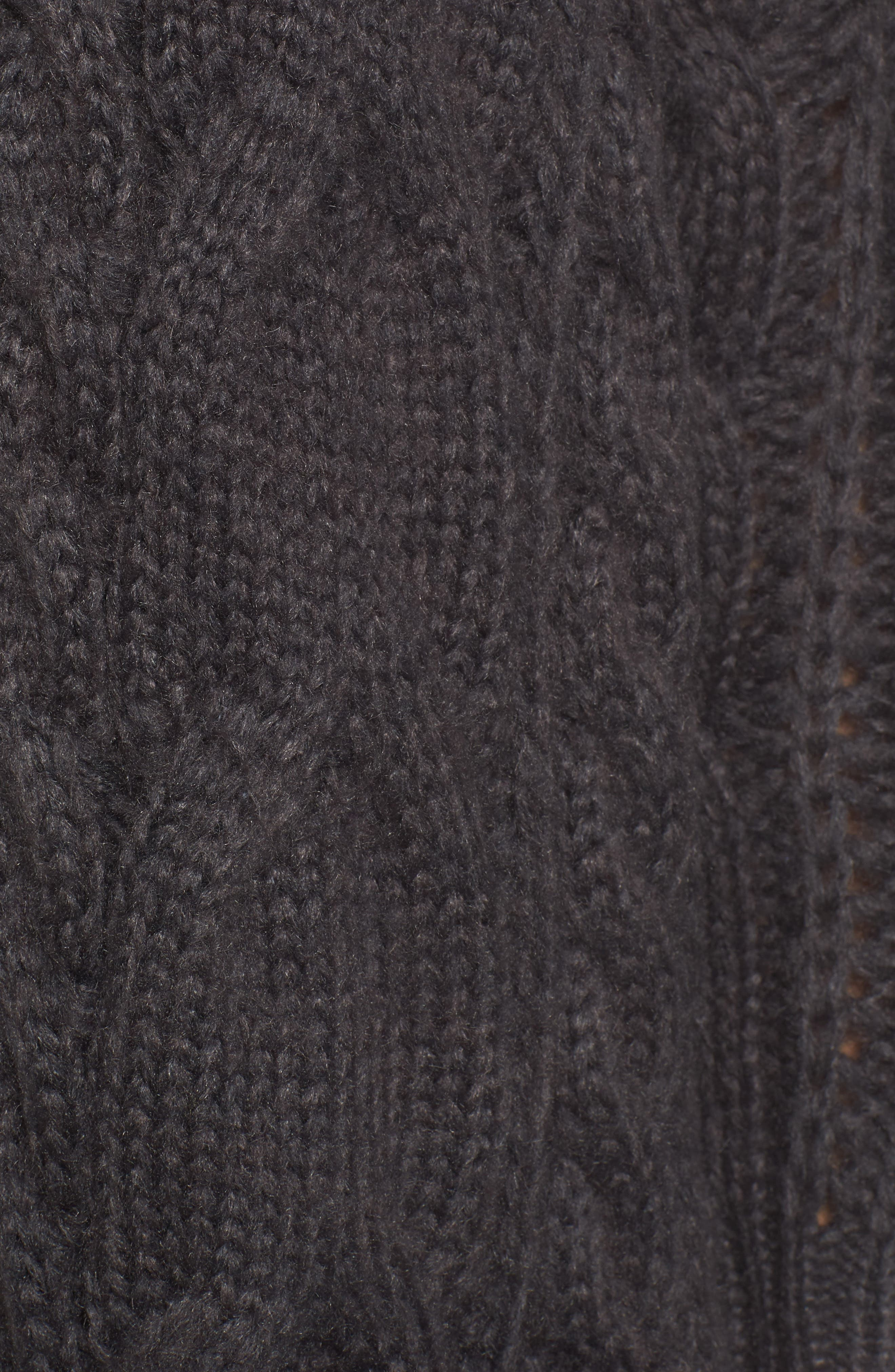 Cable Knit Cardigan,                             Alternate thumbnail 5, color,                             030