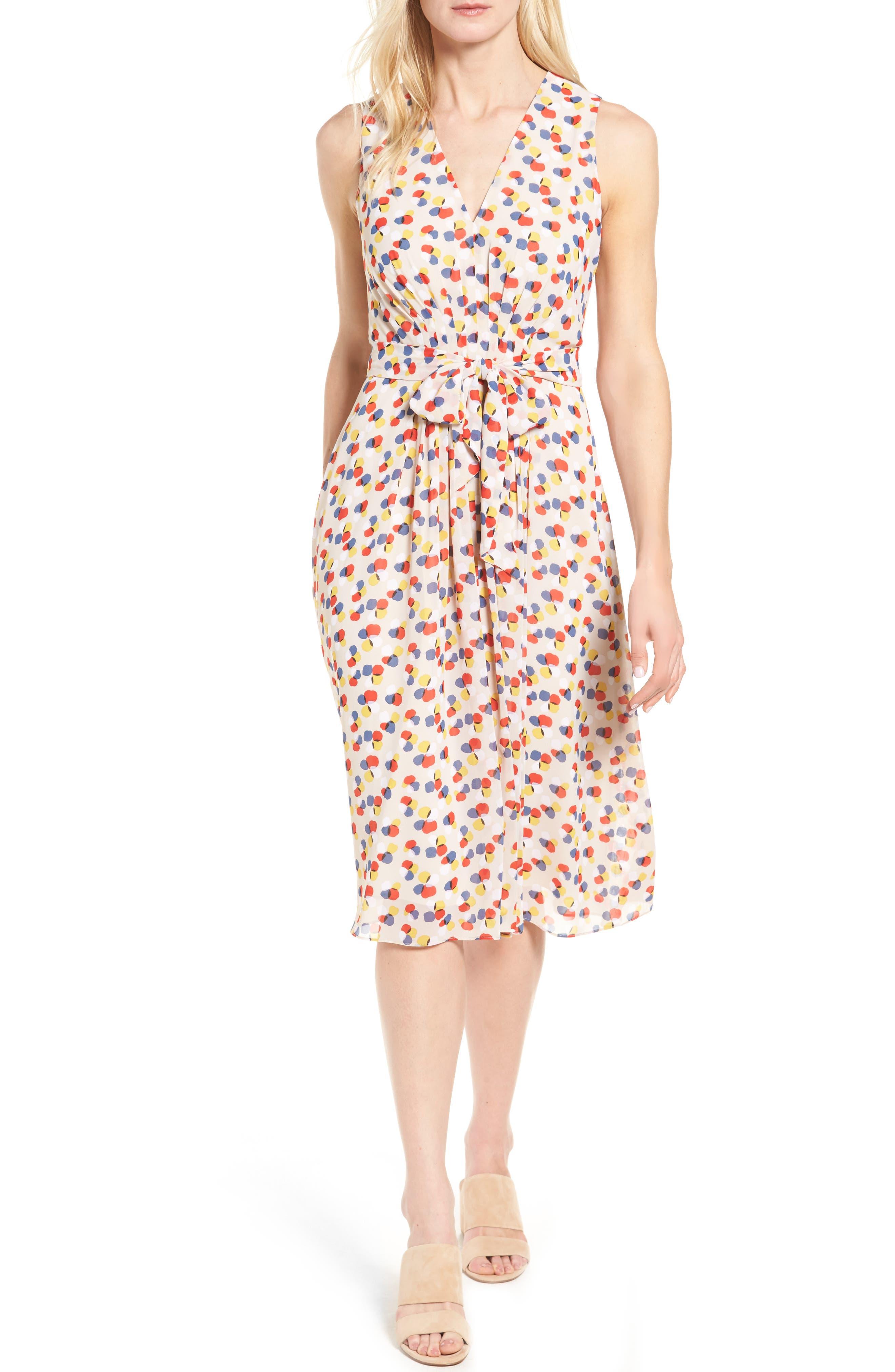 Print Chiffon Dress,                             Main thumbnail 1, color,