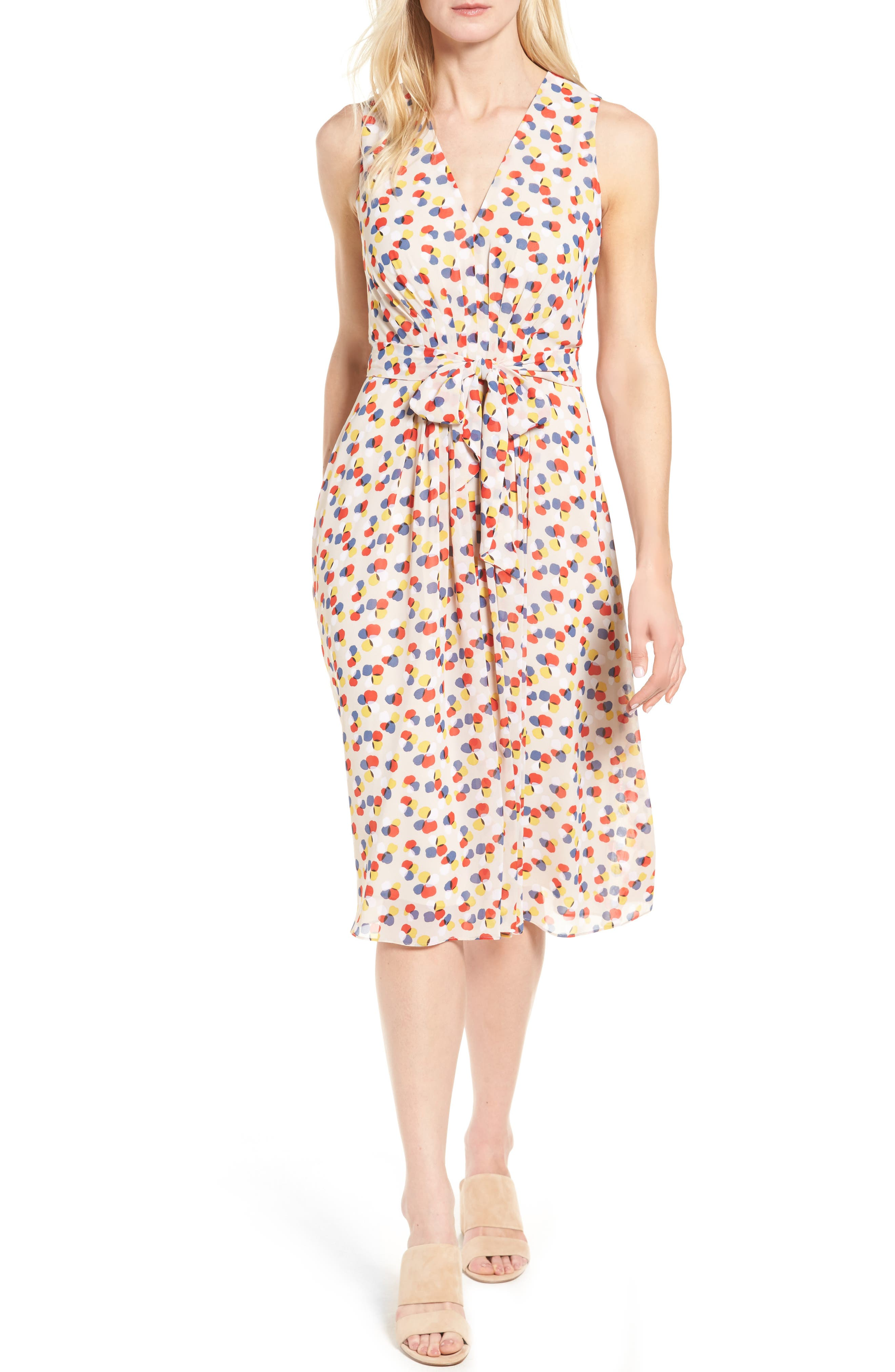 Print Chiffon Dress,                         Main,                         color,