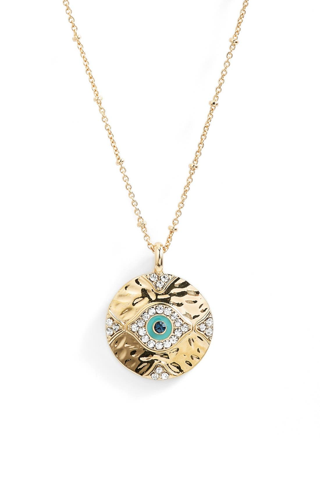 LONNA & LILLY 'Evil Eye' Pendant Necklace, Main, color, 710