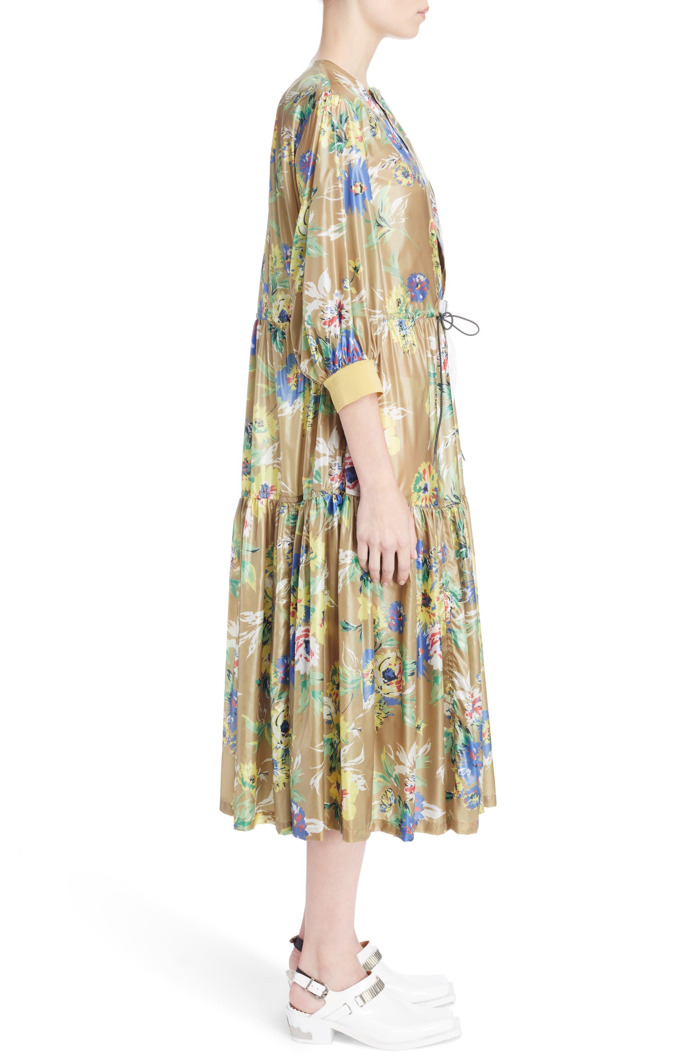Floral Print Dress,                             Alternate thumbnail 3, color,                             700