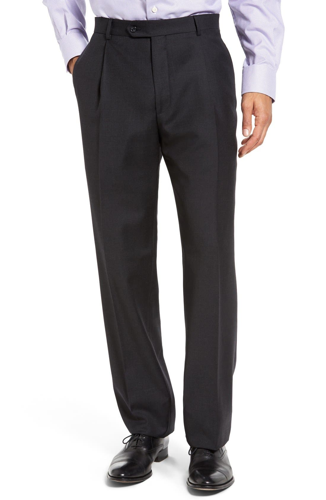 Chicago Classic Fit Solid Wool Suit,                             Alternate thumbnail 8, color,                             010
