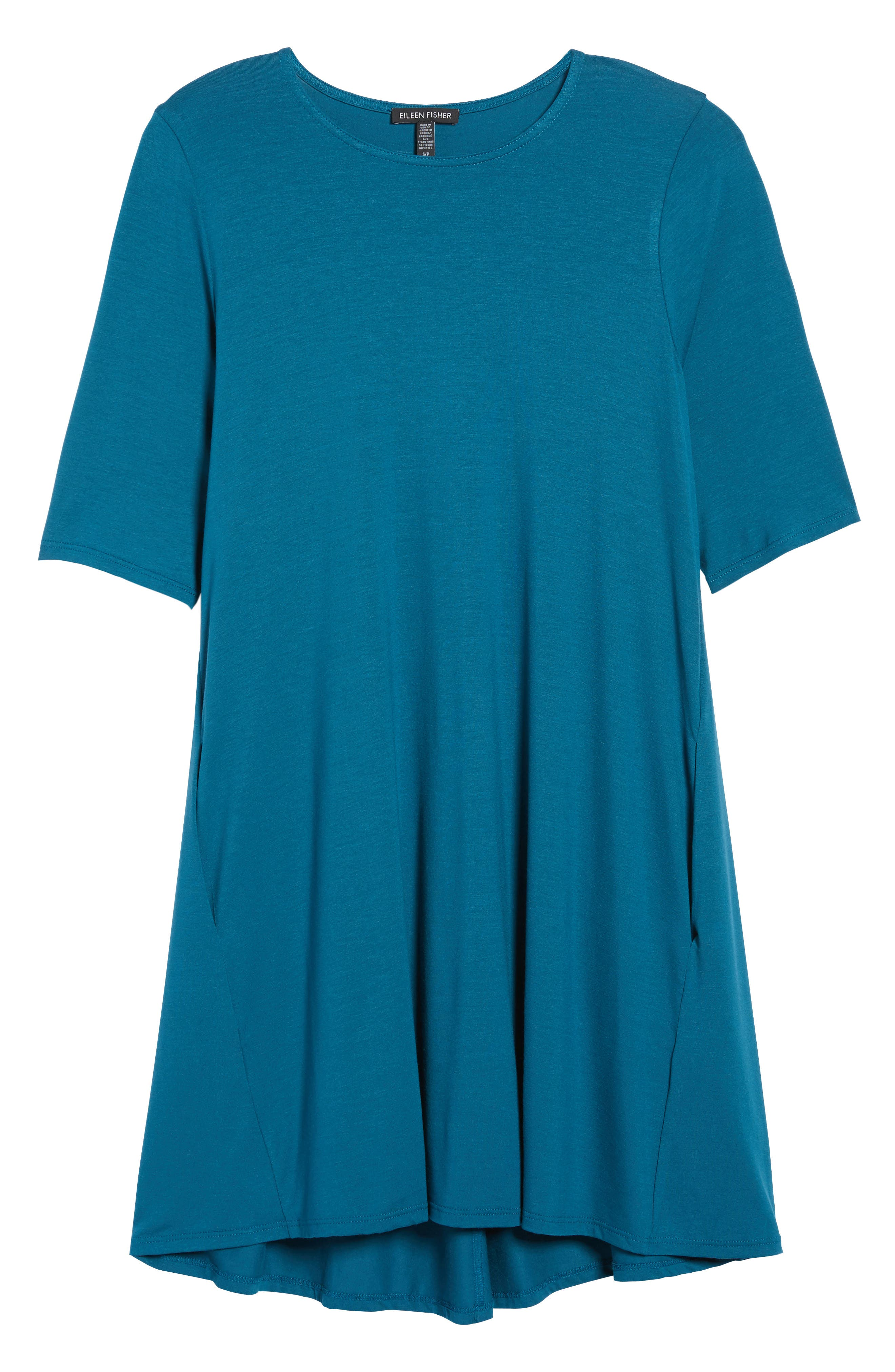 Lightweight Jersey Round Neck Tunic,                             Alternate thumbnail 32, color,