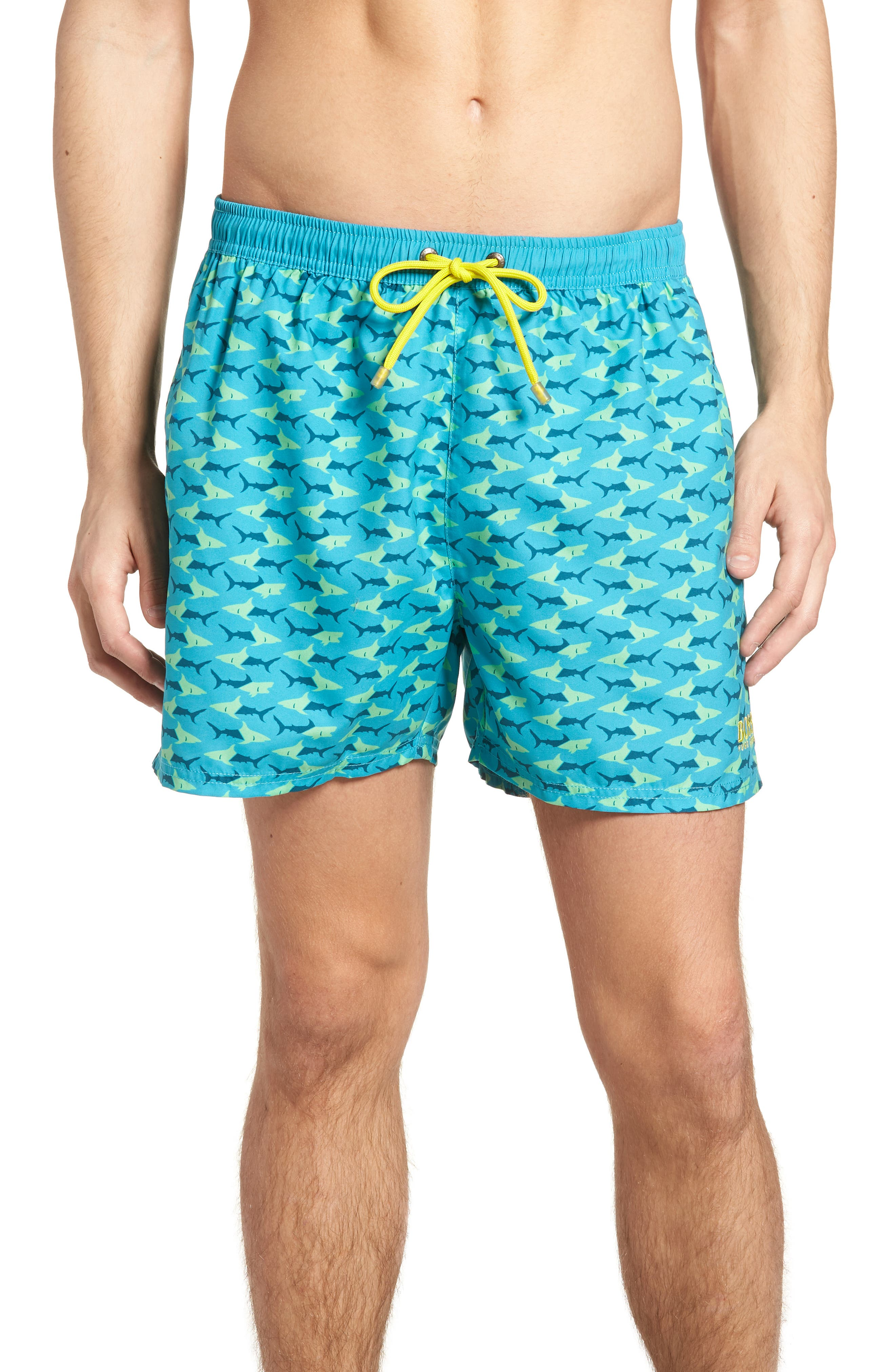 Piranha Shark Swim Trunks,                         Main,                         color, 480